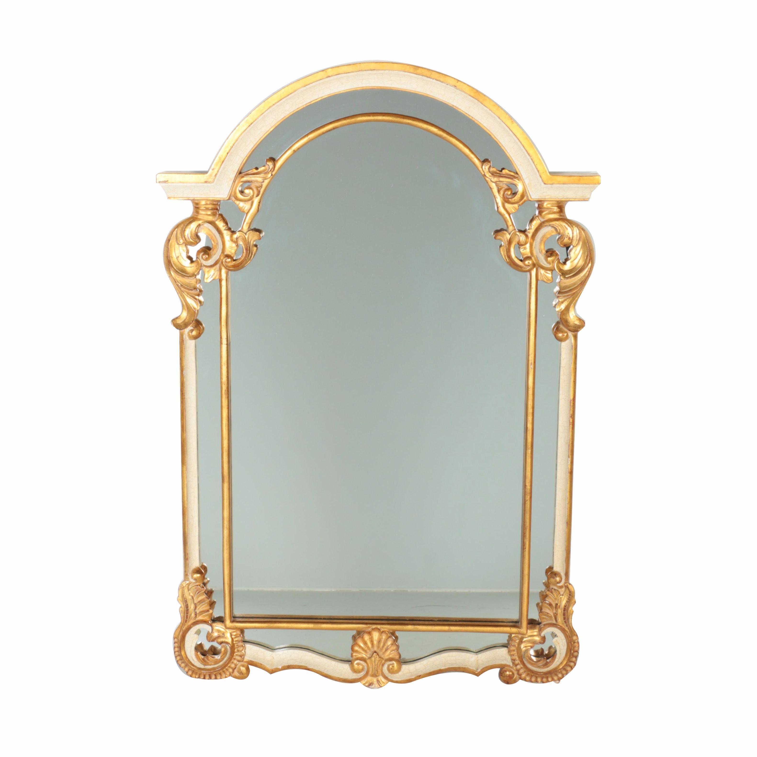 Harrison & Gil Decorative White and Gold Tone Mirror