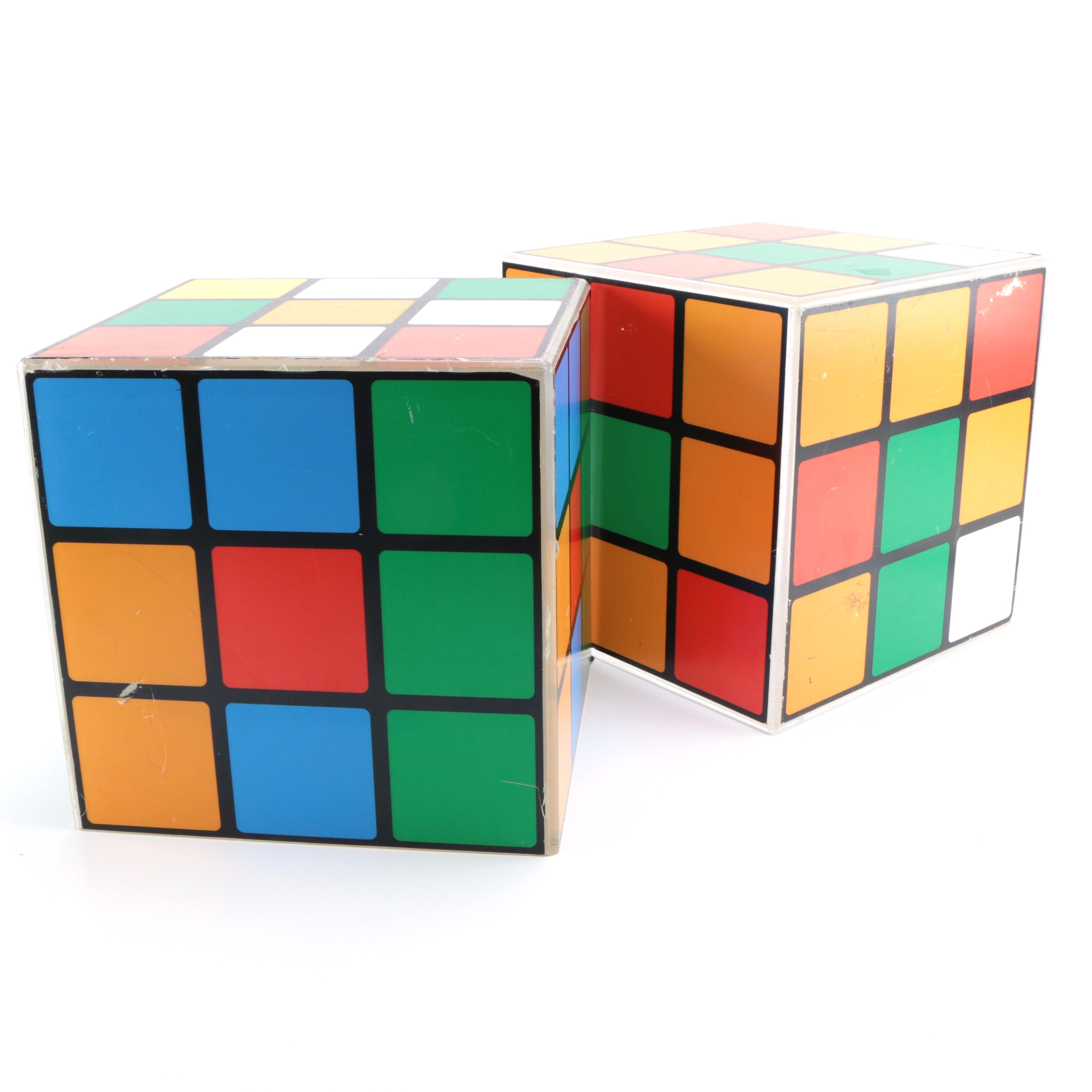 Pair of Rubik's Cube Style Side Tables