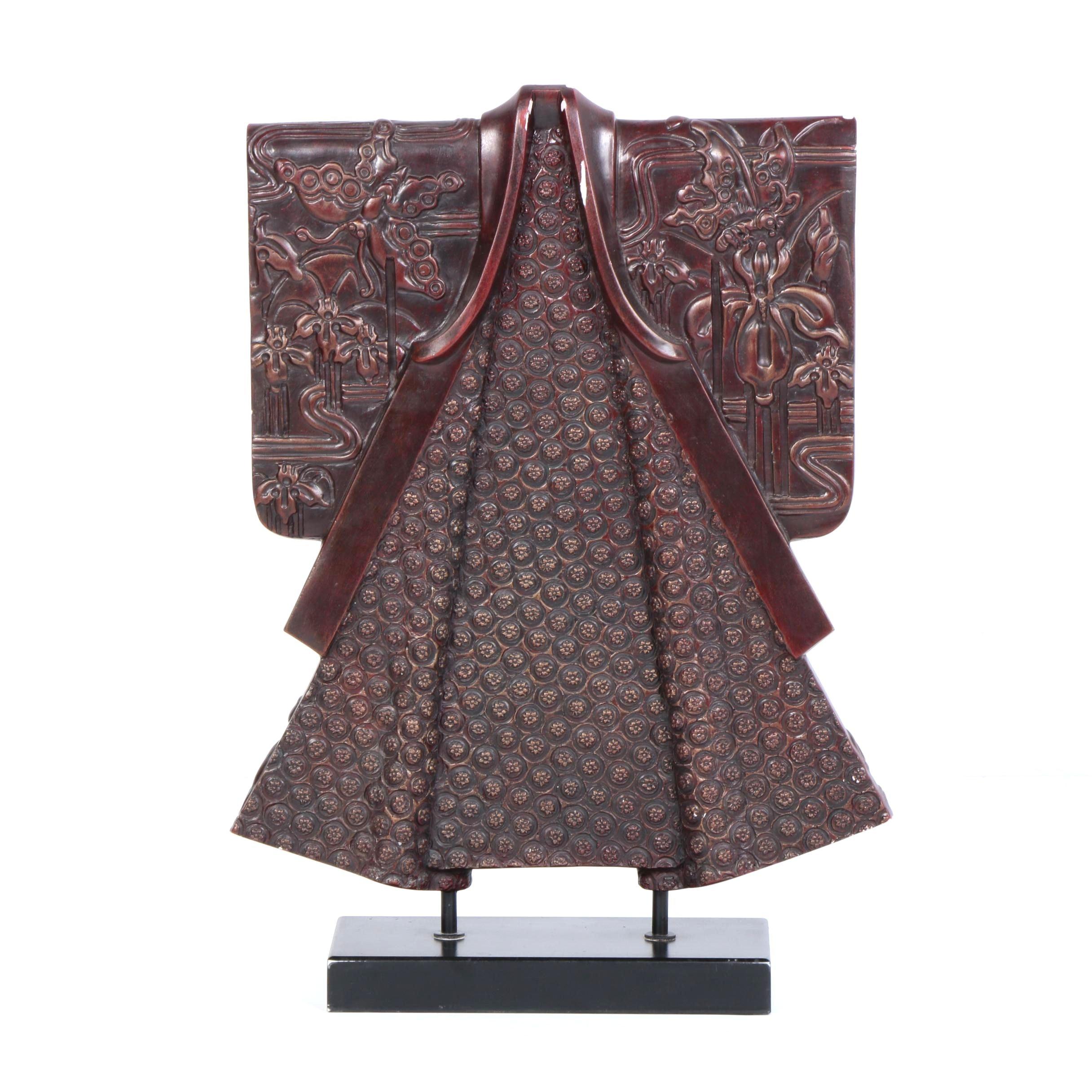 Mixed Media Kimono Sculpture on Stand