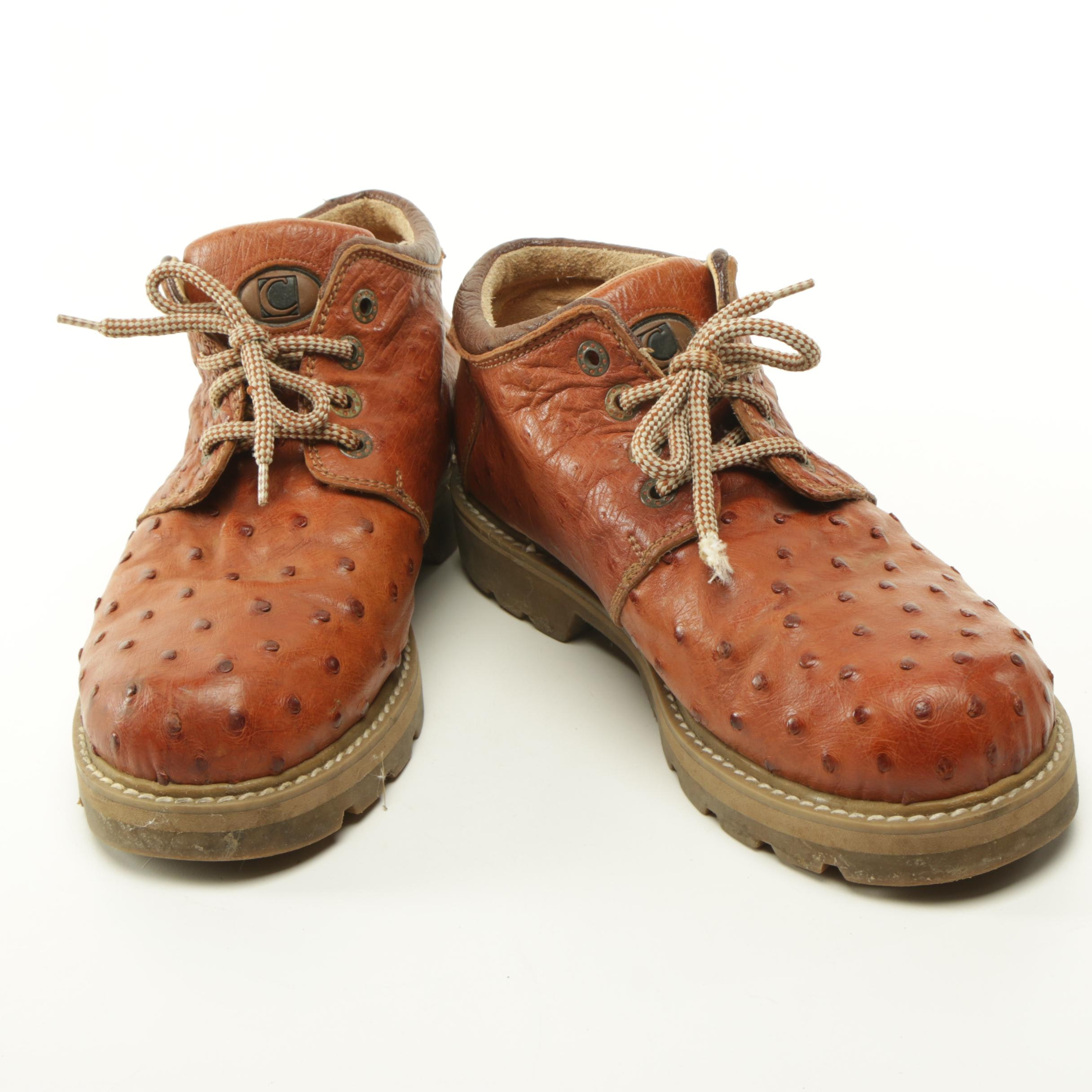 Men's Ostrich Leather Shoes by Calzados