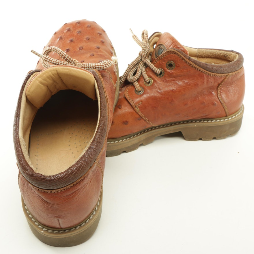 Max Leather Ostrich Shoes
