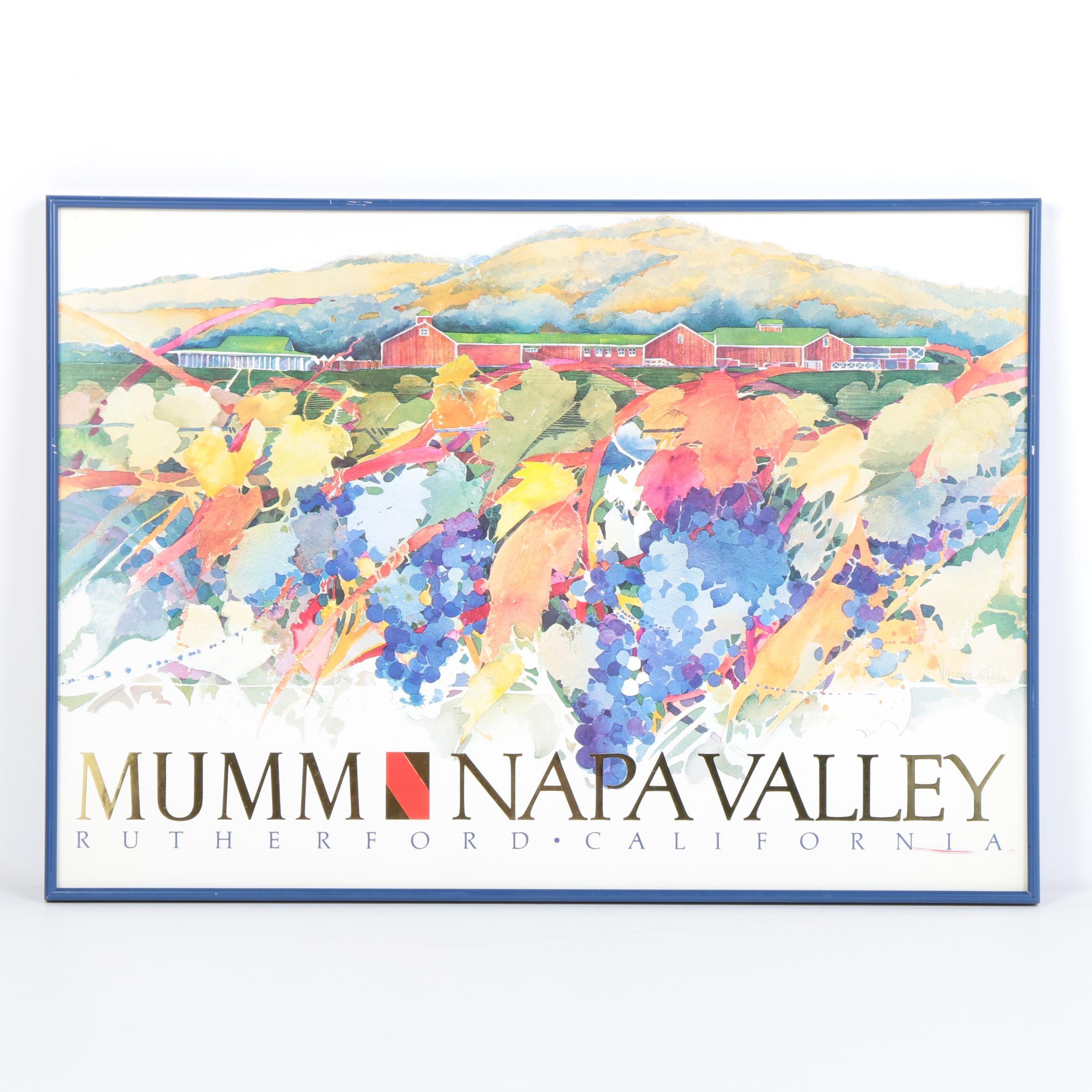 "Offset Lithograph Poster ""Mumm Napa Valley"""