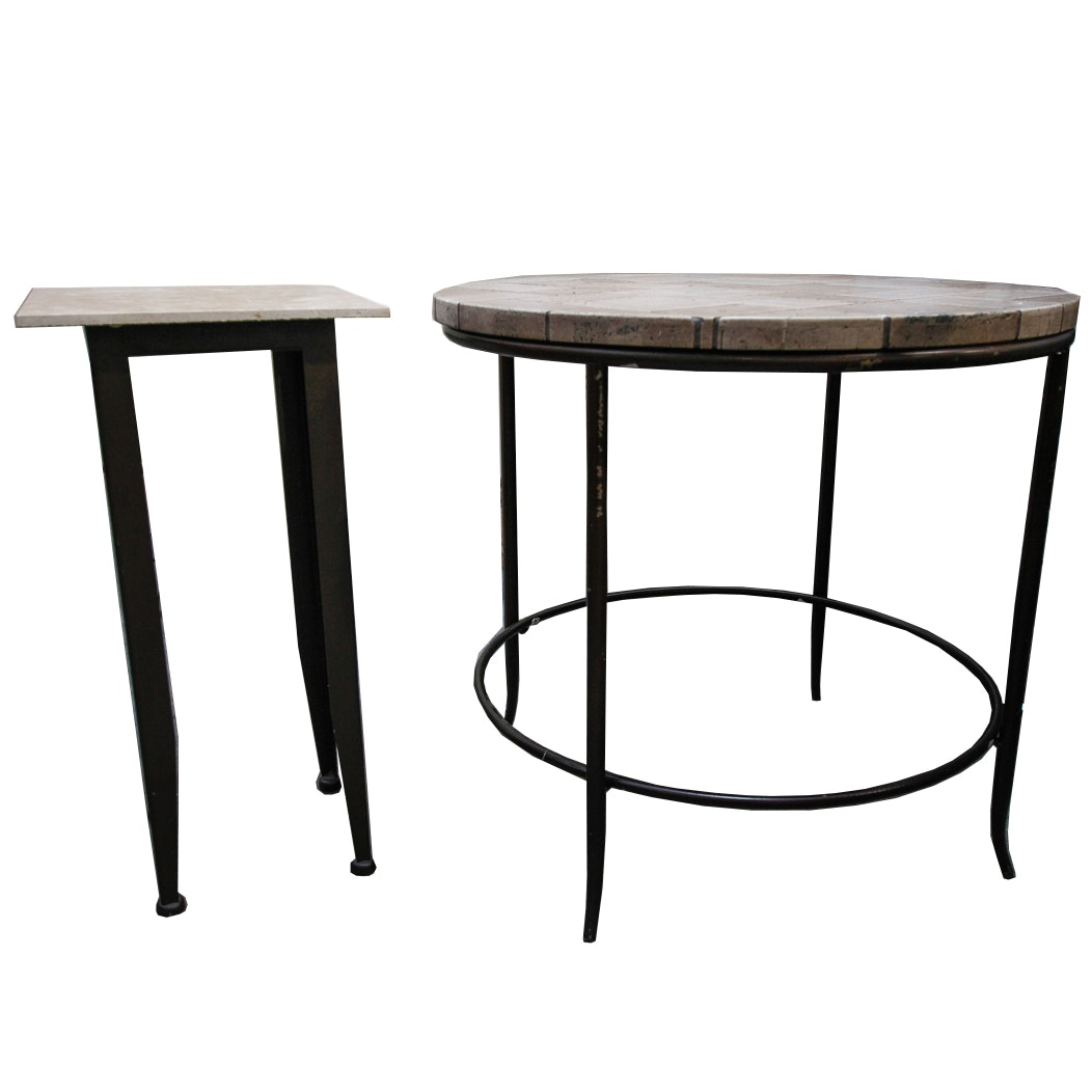 Tile Top Metal Side and Accent Tables