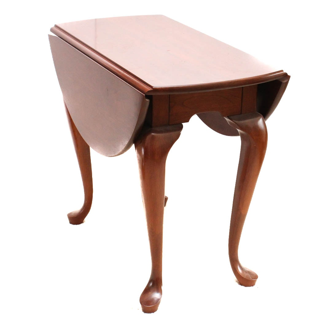 Queen Anne Style Drop Leaf Accent Table