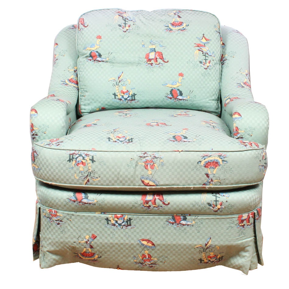 Fabric Upholstered Armchair by Sherrill