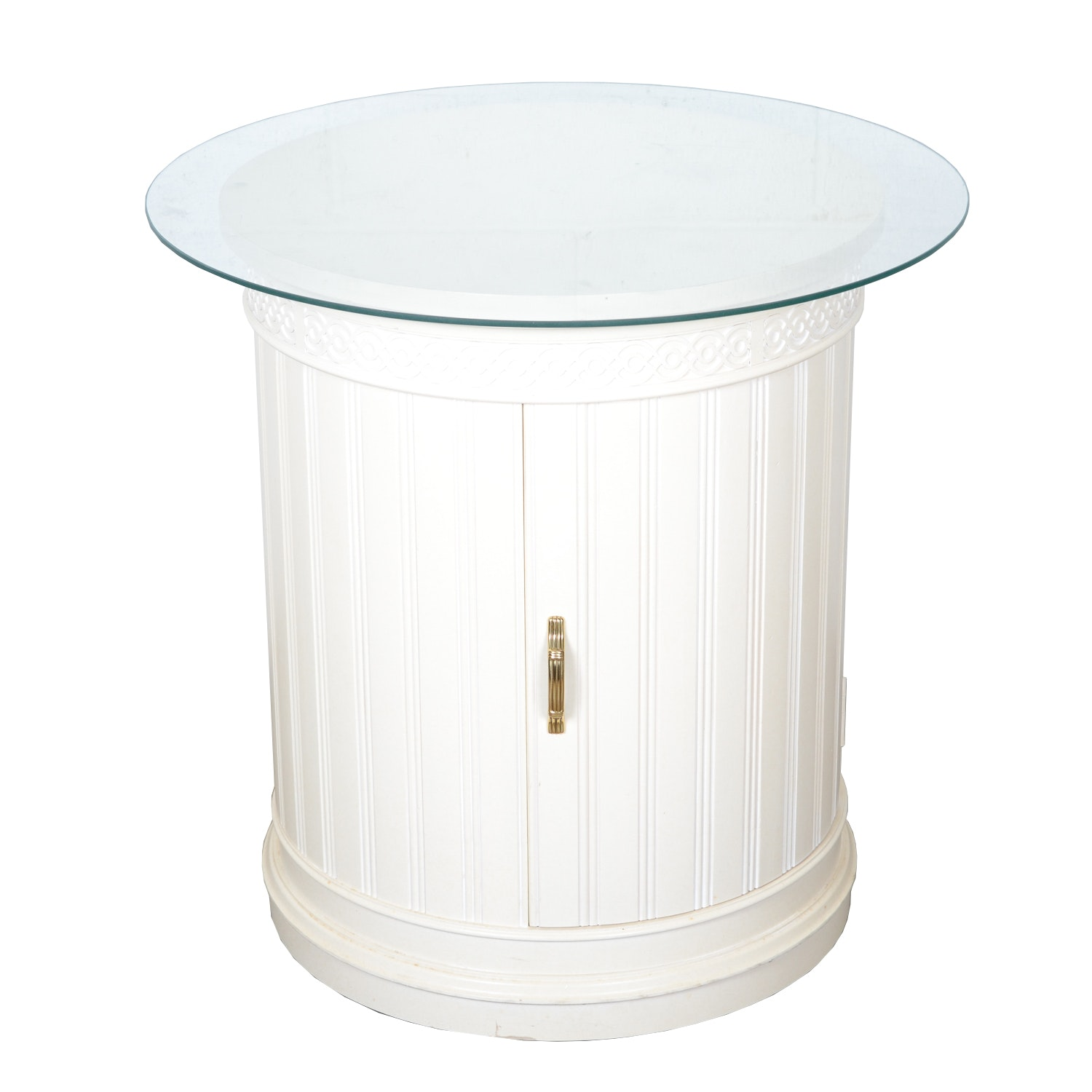 Round Side Table Cabinet