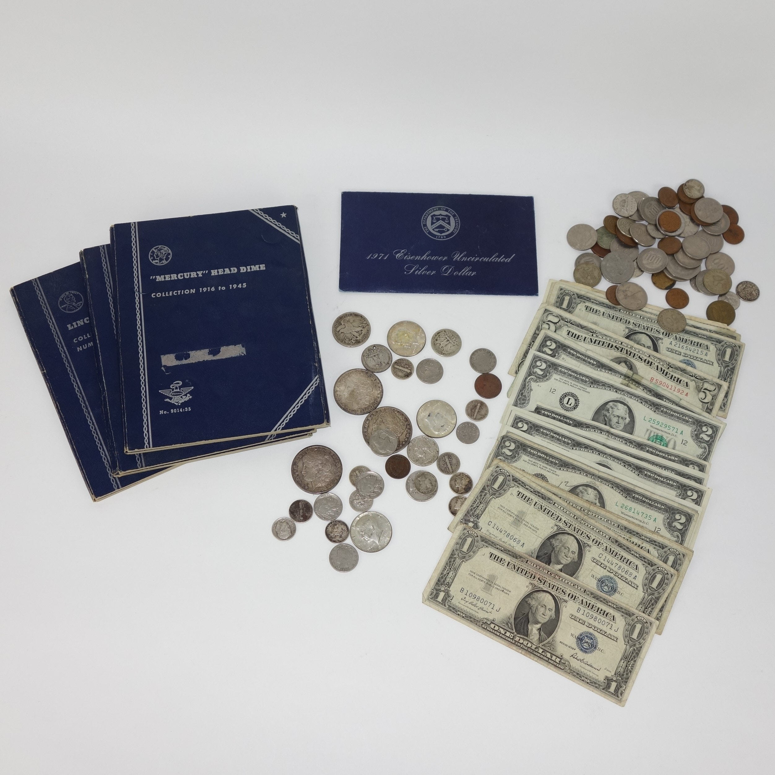 Mixed Silver Coin, Foreign Coin and Currency Collection