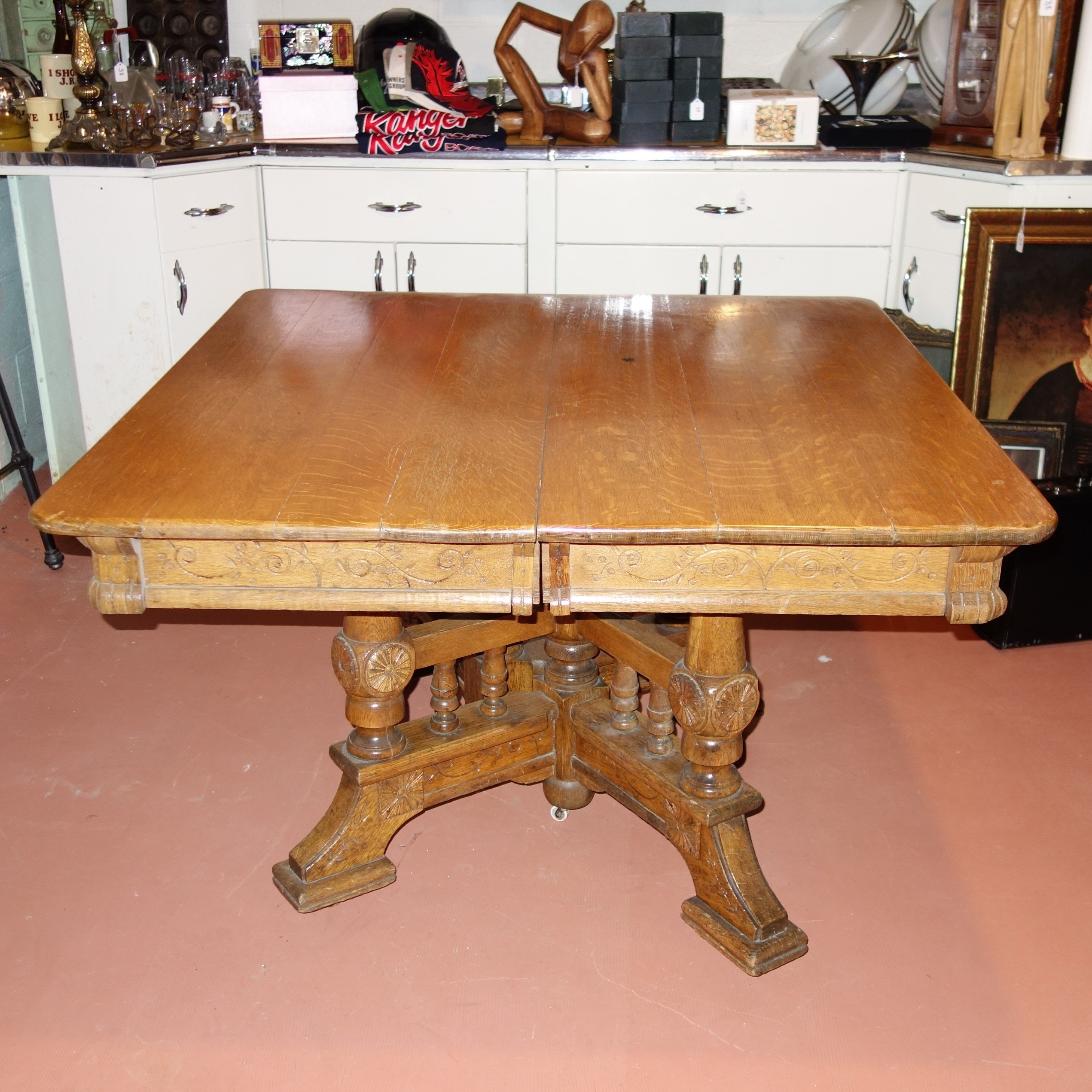 Antique Oak Dining Table