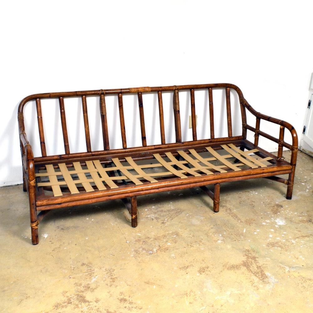 Vintage Rattan Sofa Frame by Ficks Reed