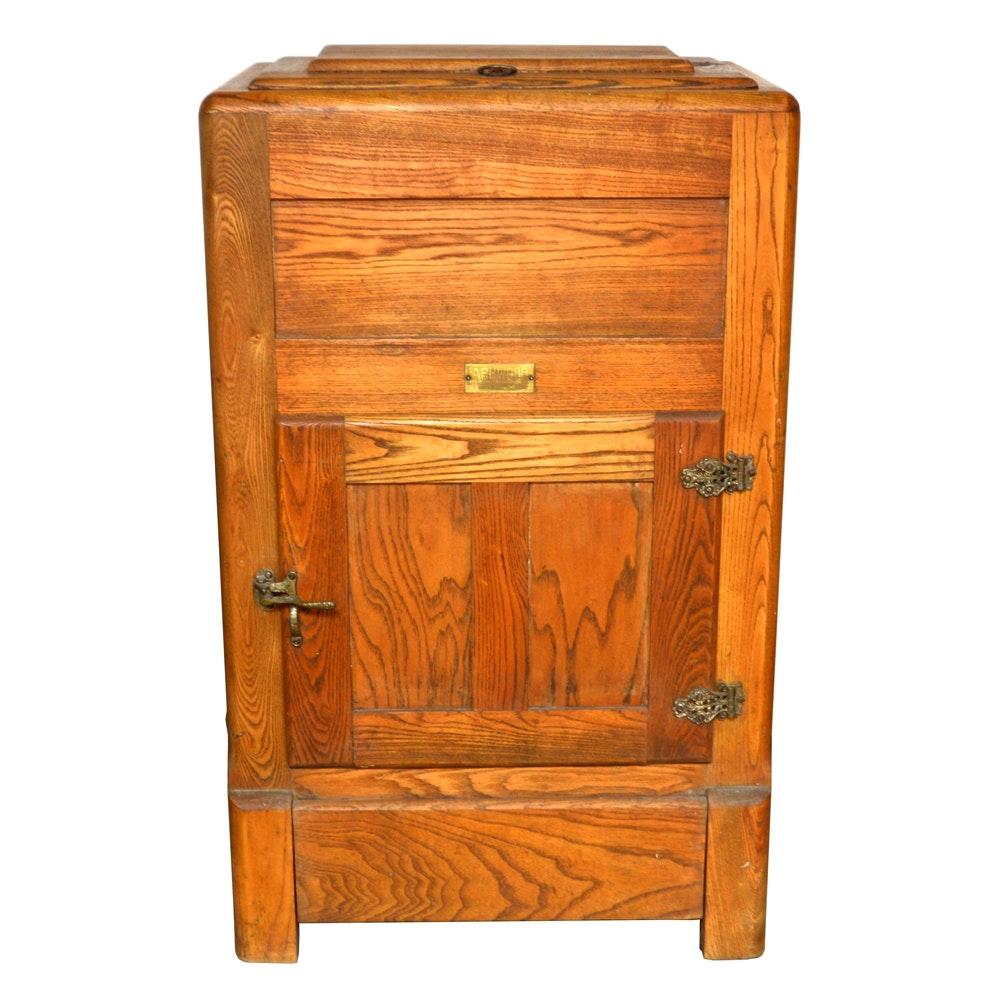 Attractive Antique Ashwood Oak Ice Box ...