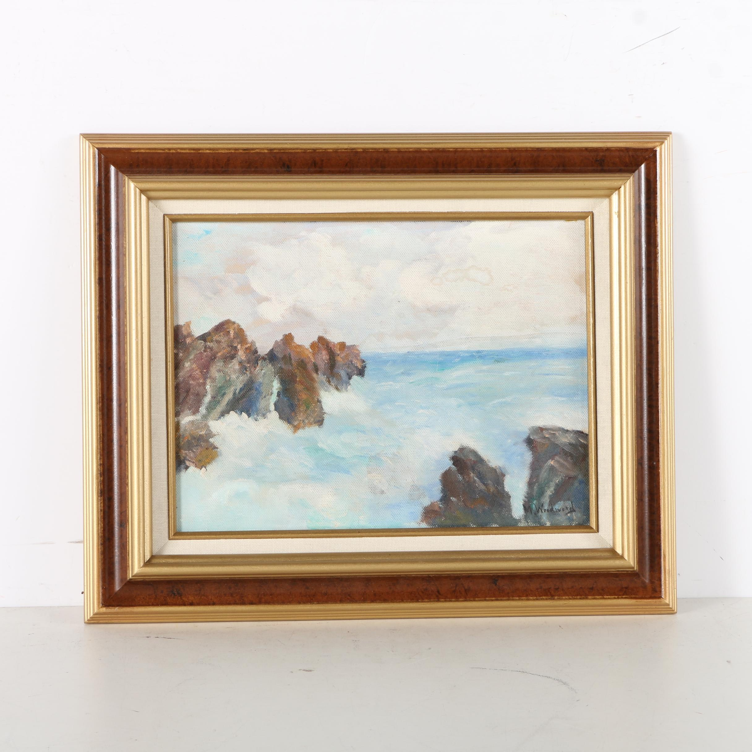 Study of Ocean on Canvas by Mabel May Woodward
