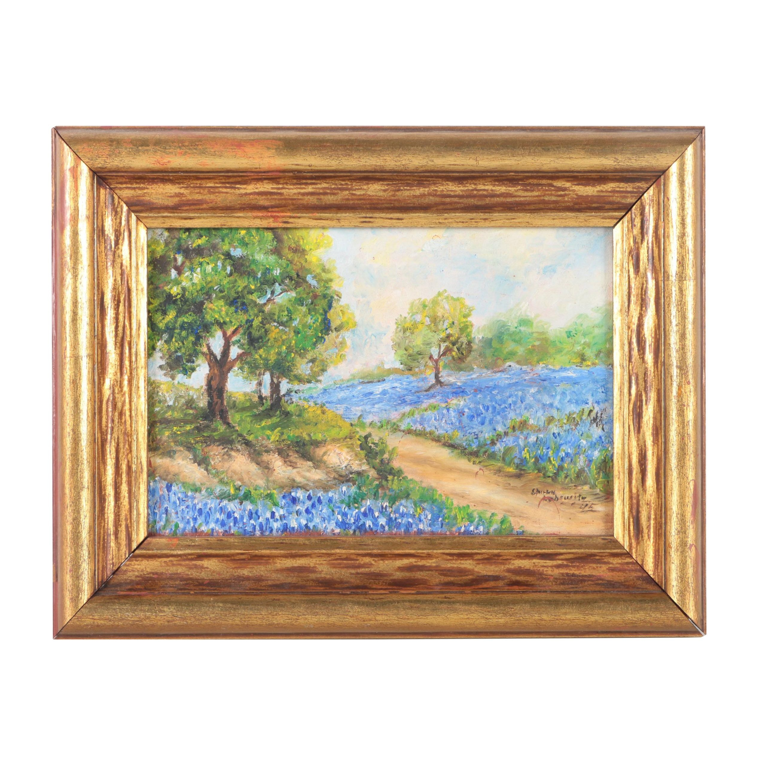 Oil Painting of Texas Bluebonnets
