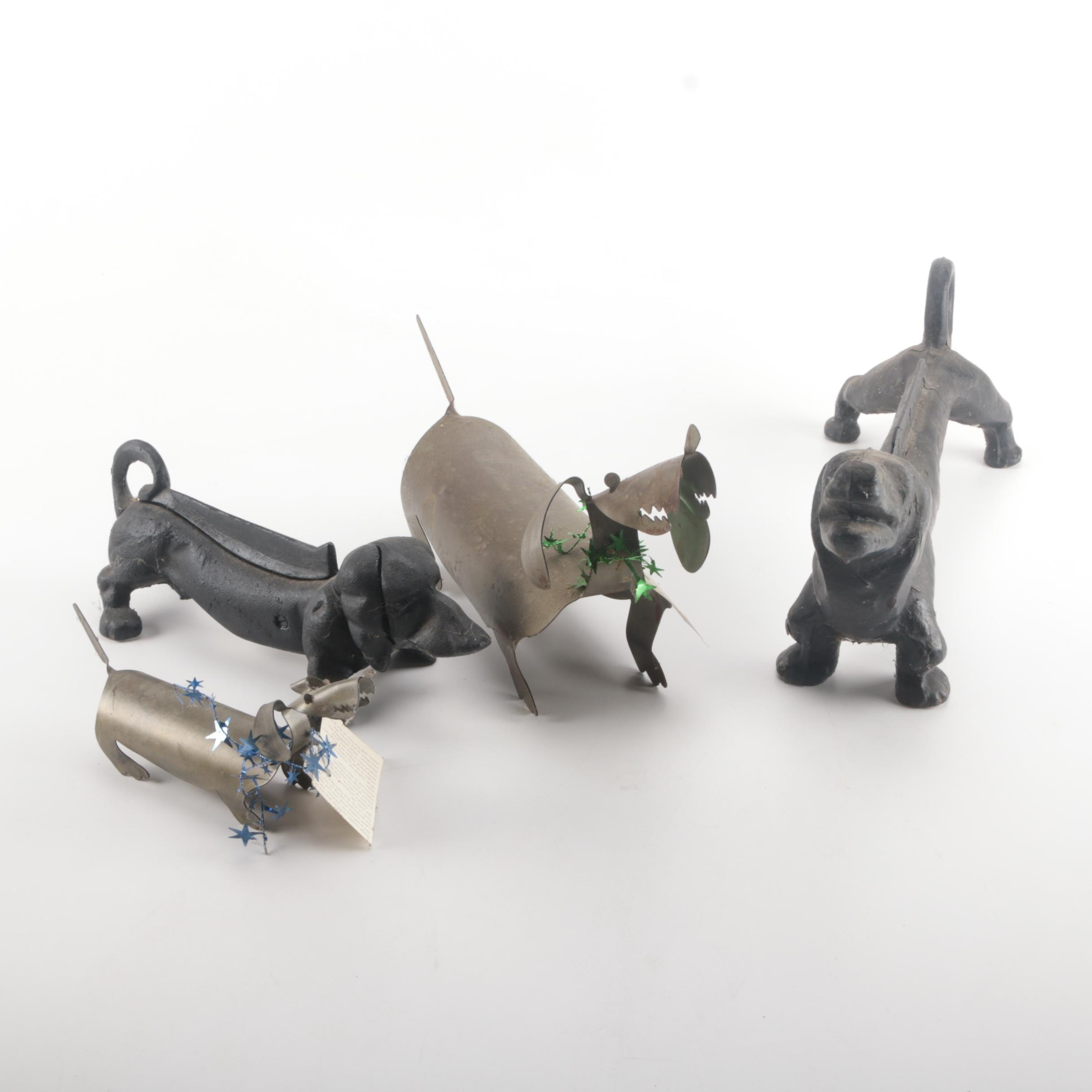 Assortment of Dachshund Figurines Featuring David Lesser
