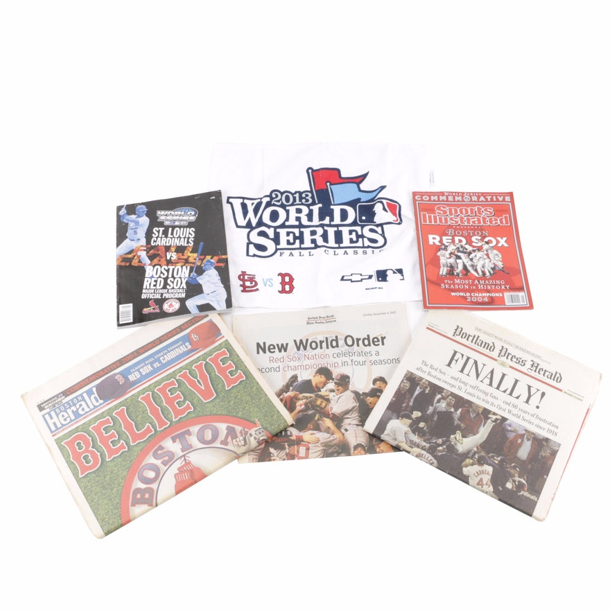Boston Red Sox World Series Memorabilia