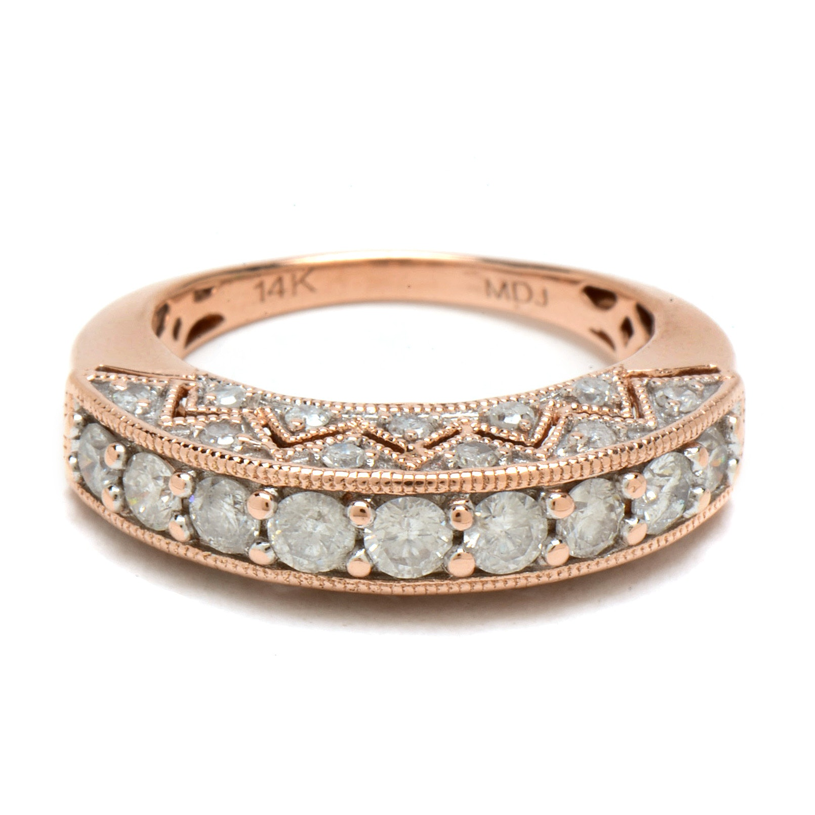 14K Rose Gold 1.04 CTW Diamond Ring