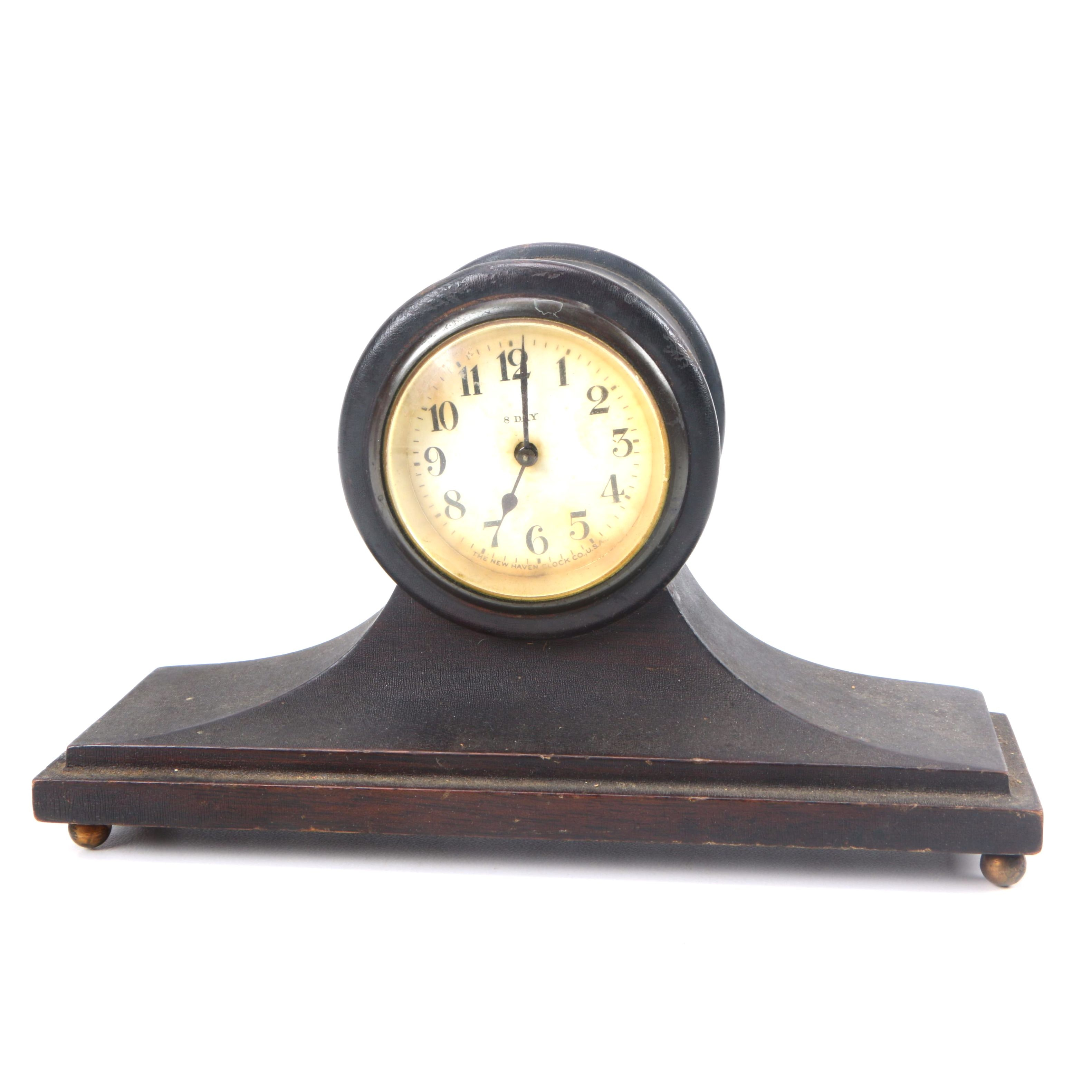New Haven Clock Co. Eight Day Winding Mantel Clock