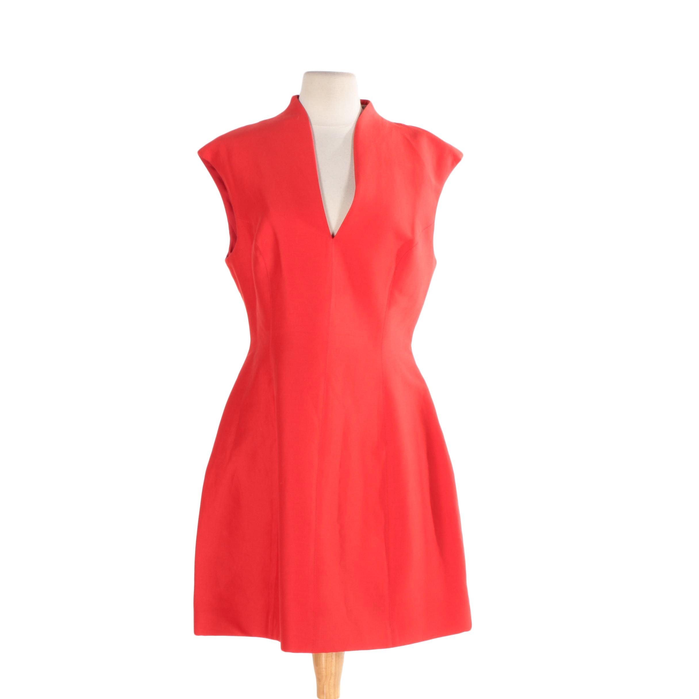 Halston Heritage Silk Faille Dress