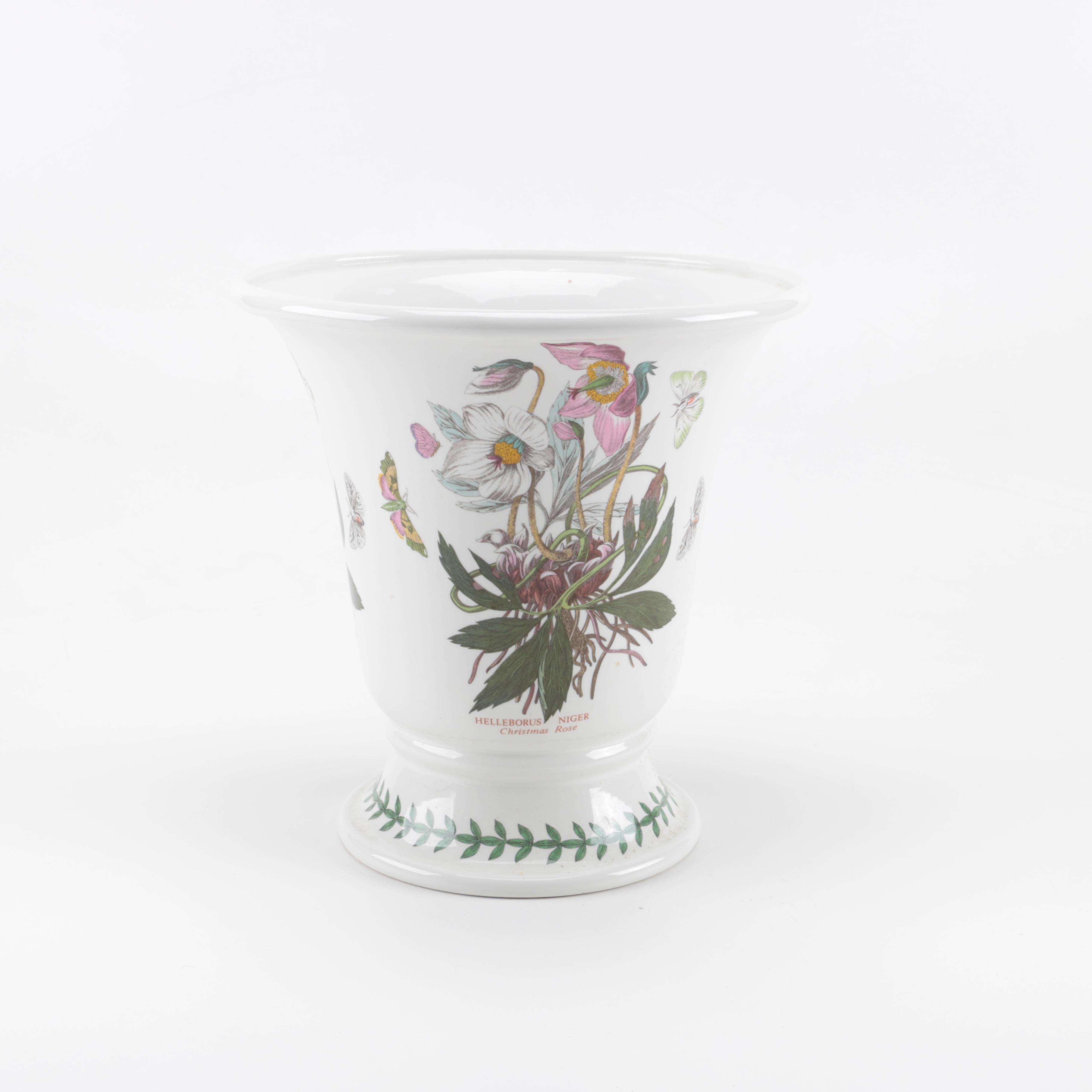 "Vintage ""The Botanic Garden"" Ceramic Vase"