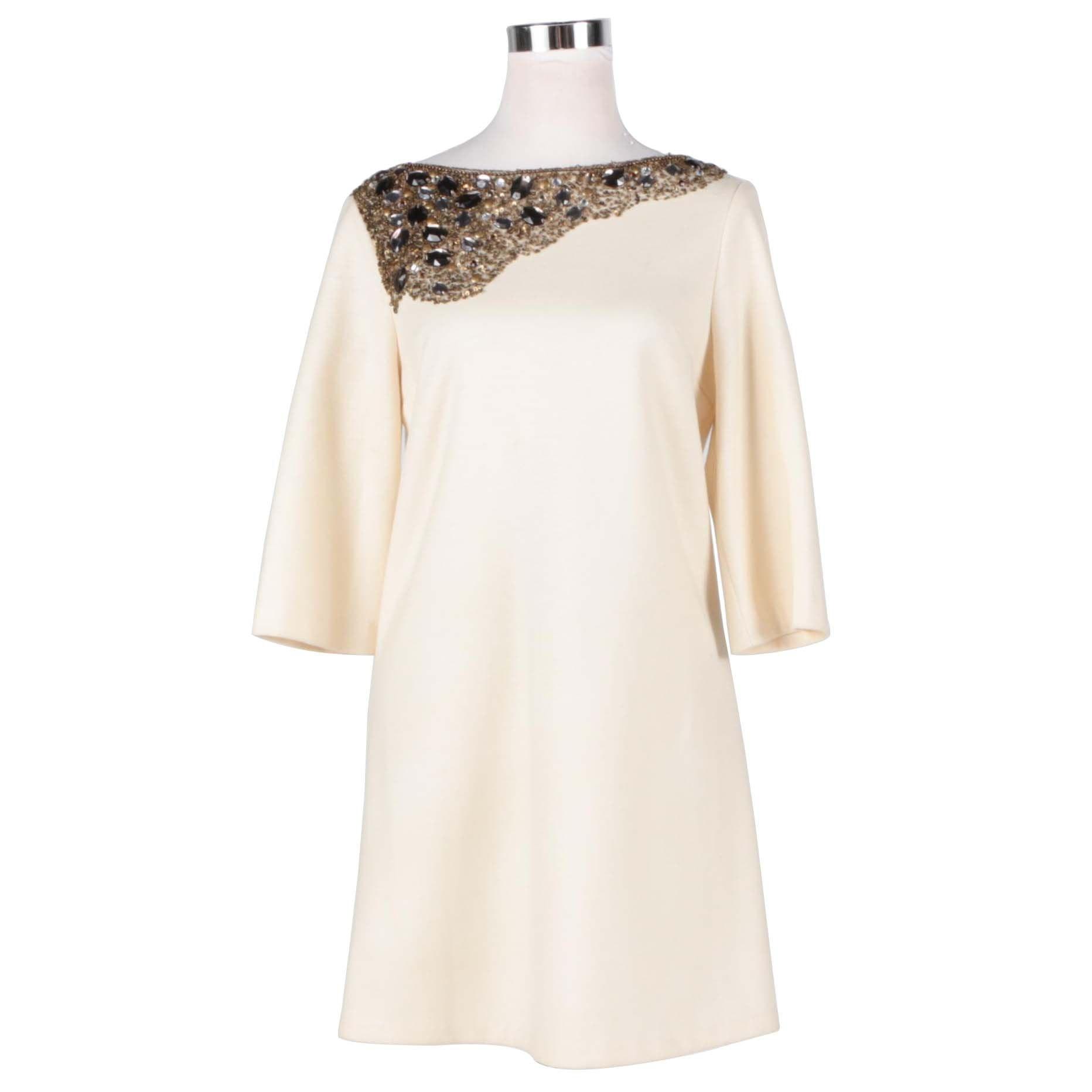 Ivory Sequin Embellished Dress