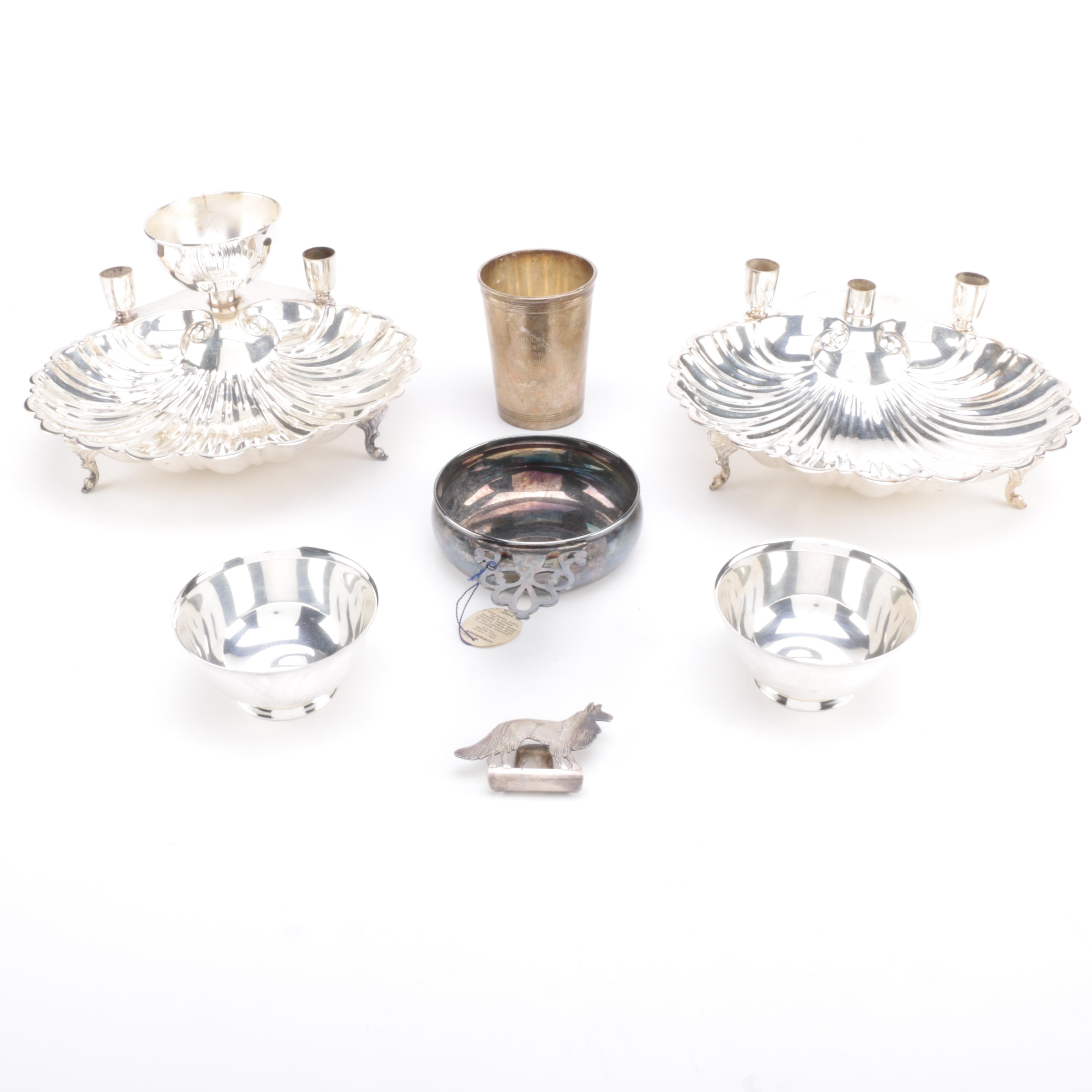 Levesley Brothers Silver Plate Centerpiece and Other Assorted Silver Plate