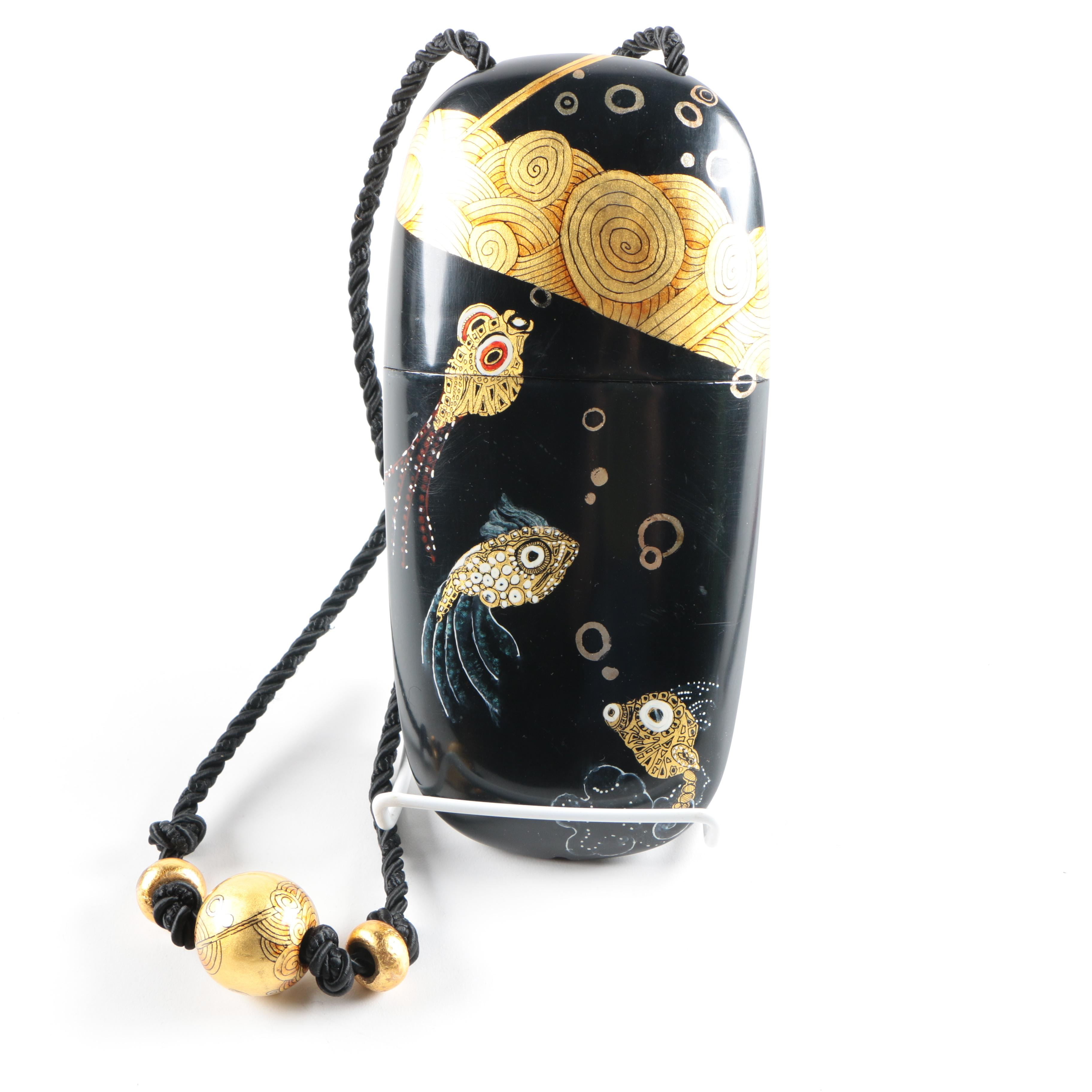 Acklen Dunning Nuri Bag With Gilded and Lacquered Fish