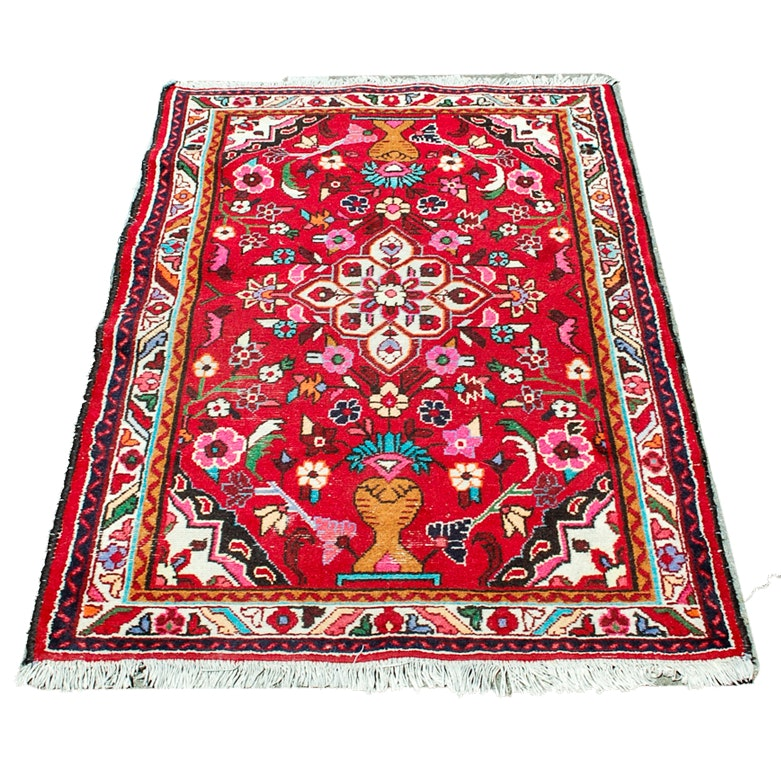 Hand-Knotted Persian Vase Area Rug