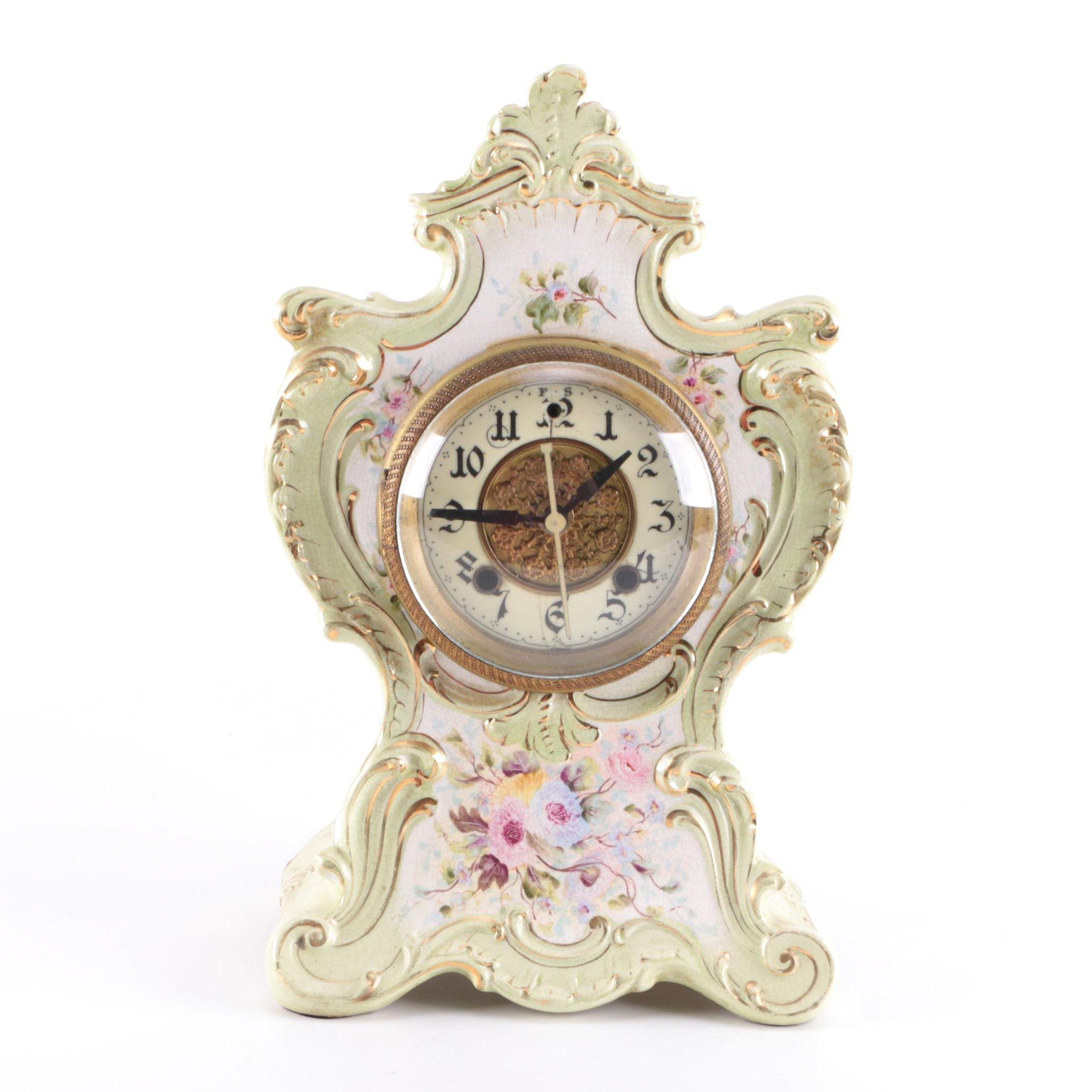 Decorative Ceramic Mantle Clock