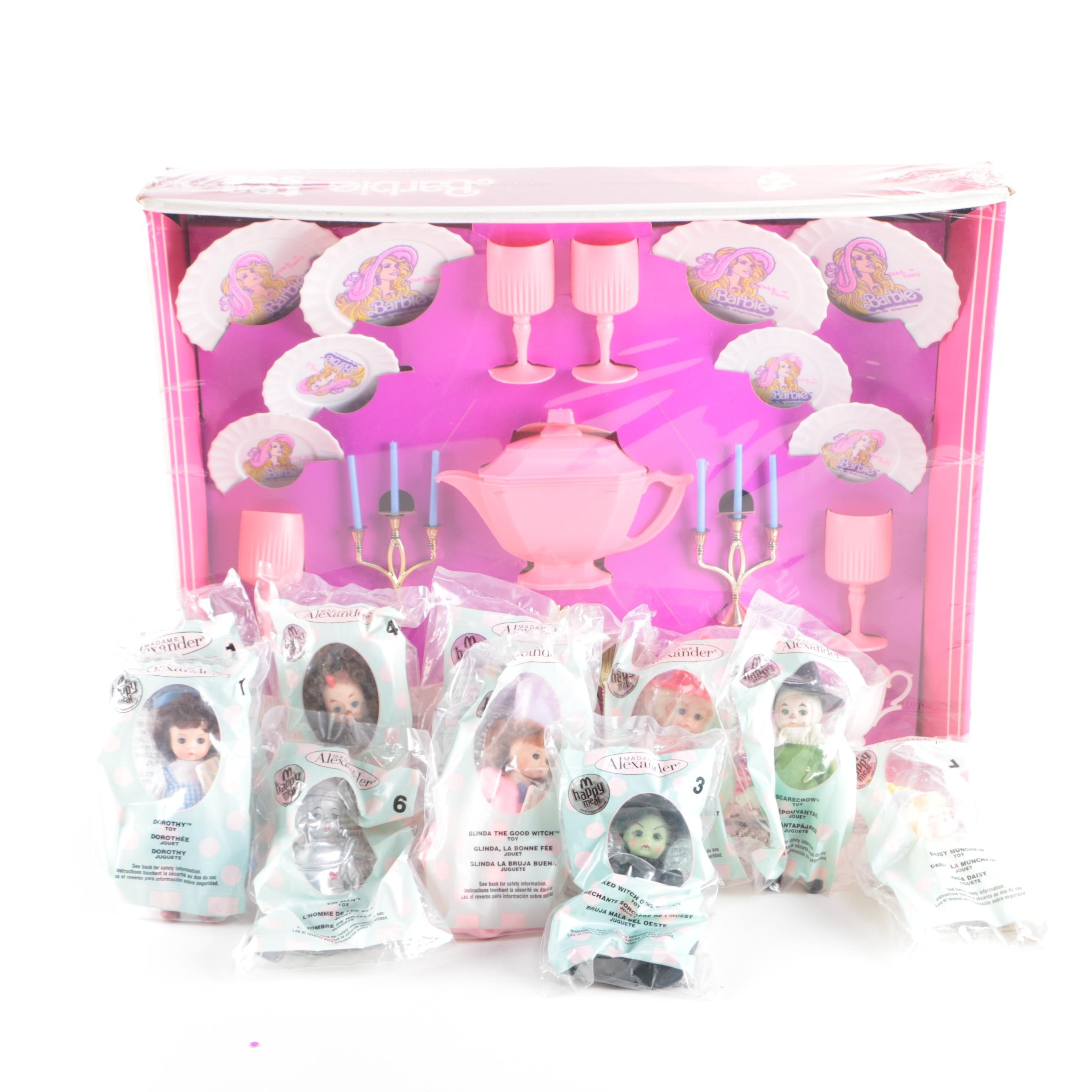 Barbie Tea Set and Madame Alexander Happy Meal Toys