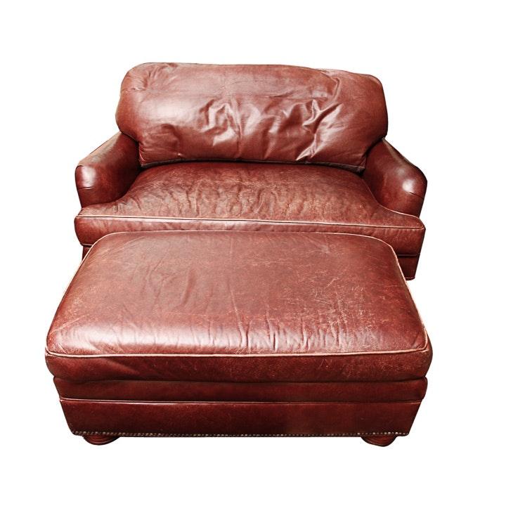 Overstuffed Leather Club Chair Stunning Overstuffed Chair