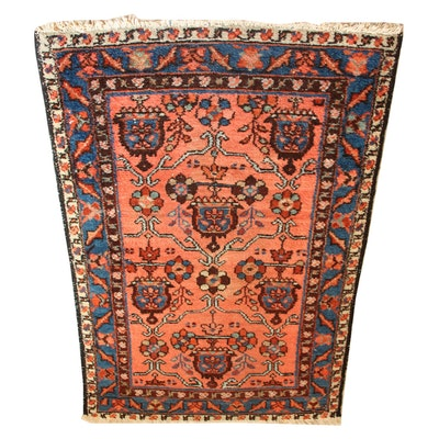 Vintage Hand-Knotted Caucasian Area Rug