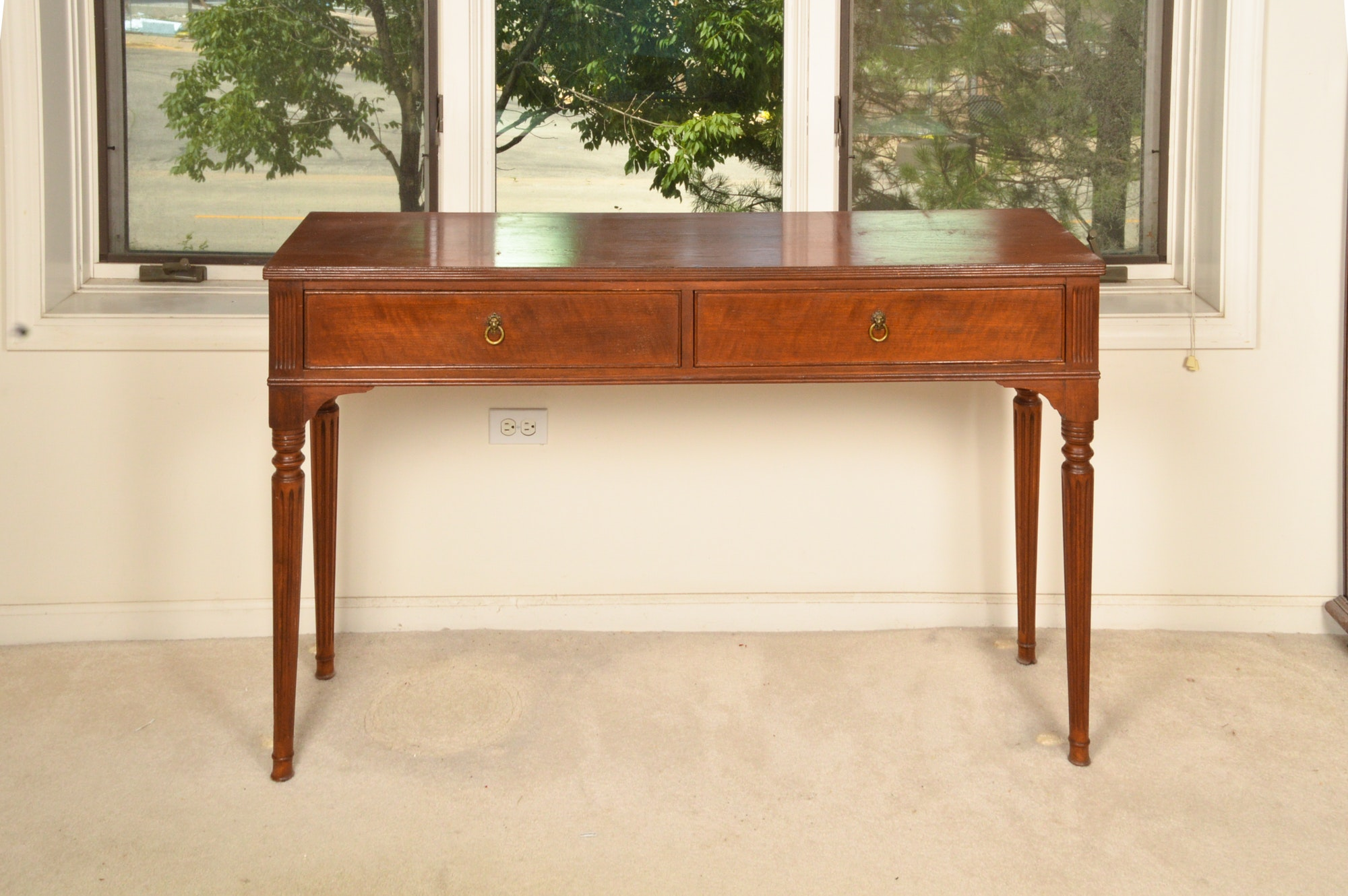 Vintage Federal Style Mahogany Console Table