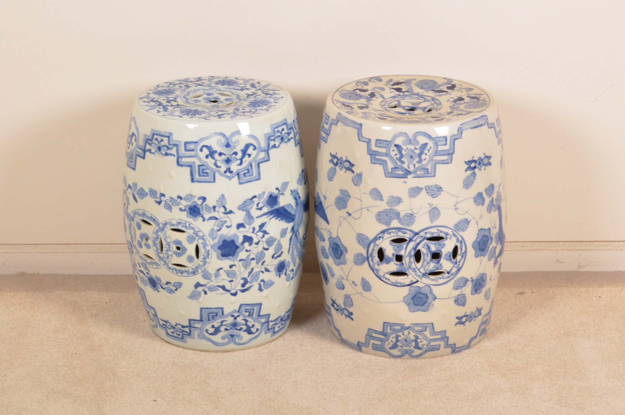 Chinese Style Ceramic Garden Stools