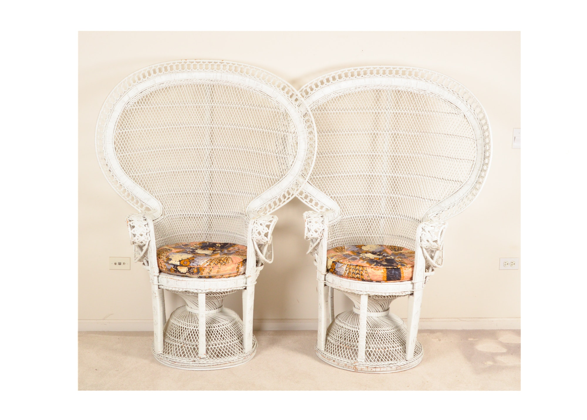 Pair of Wicker Peacock Chairs