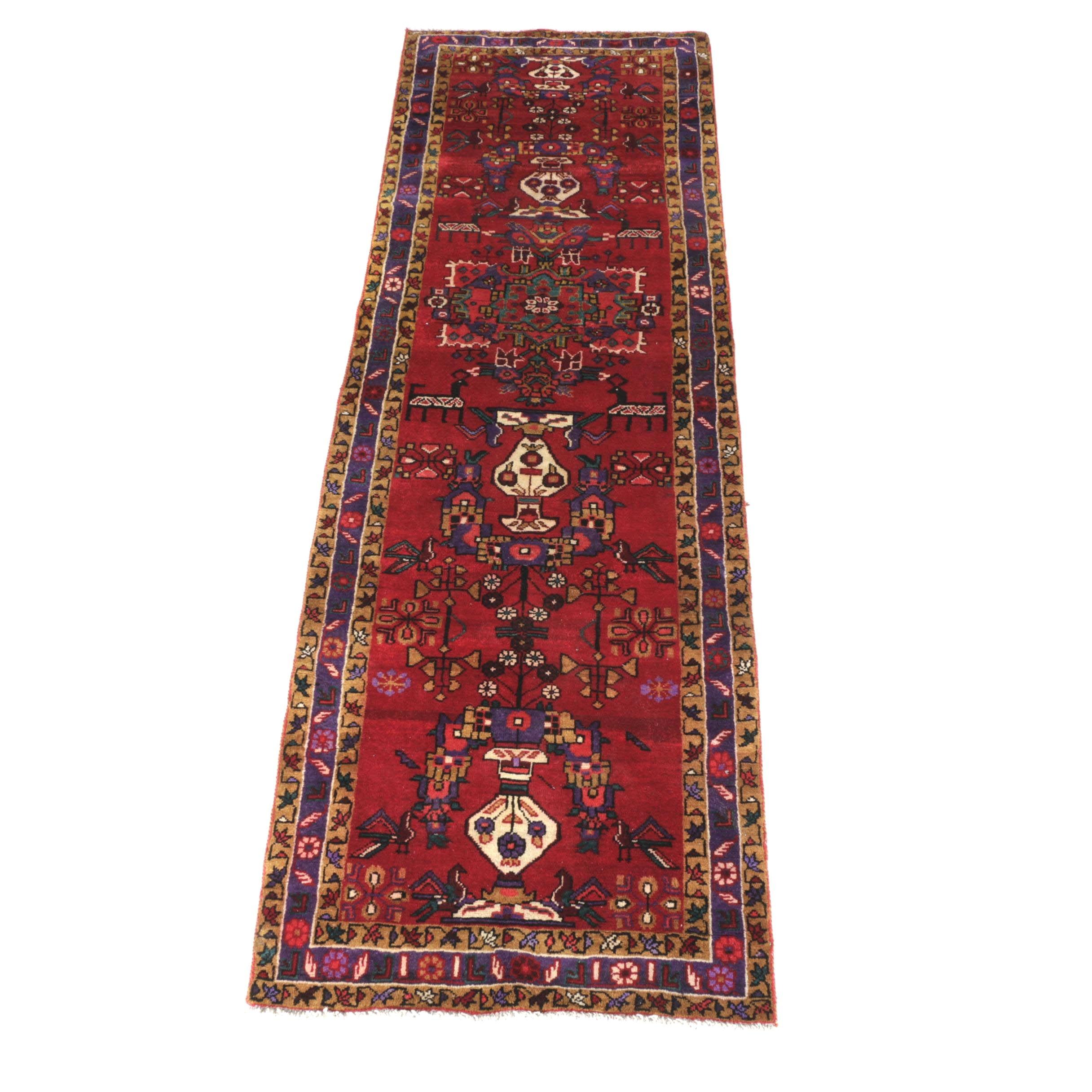 Hand-Knotted Kerman Carpet Runner