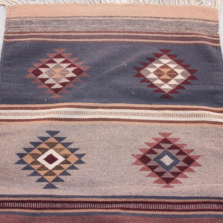 Handwoven Native American Style Wool Area Rug Ebth