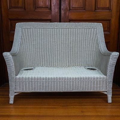 Wooden Porch Swing With Reversible Back Ebth