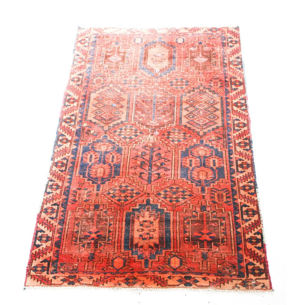 Antique Hand-Knotted Northwest Persian Rug