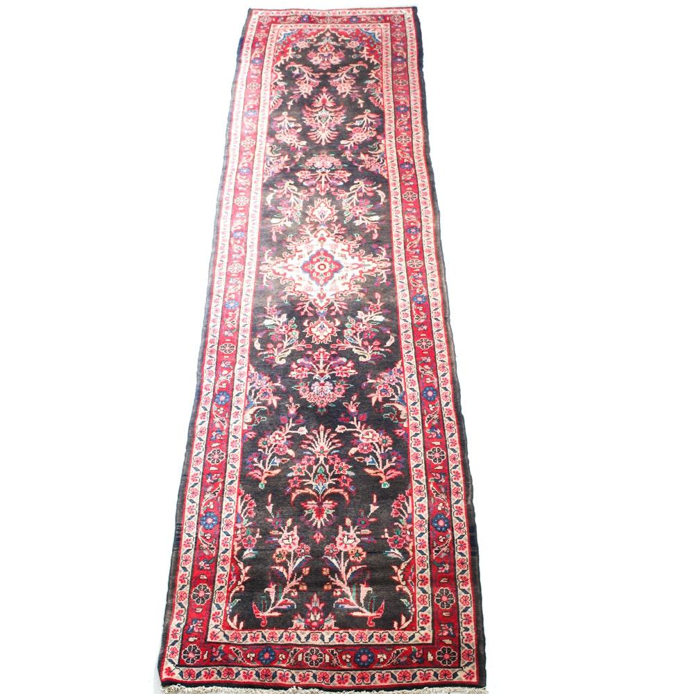Semi-Antique Hand-Knotted Persian Mahal Sarouk Carpet Runner