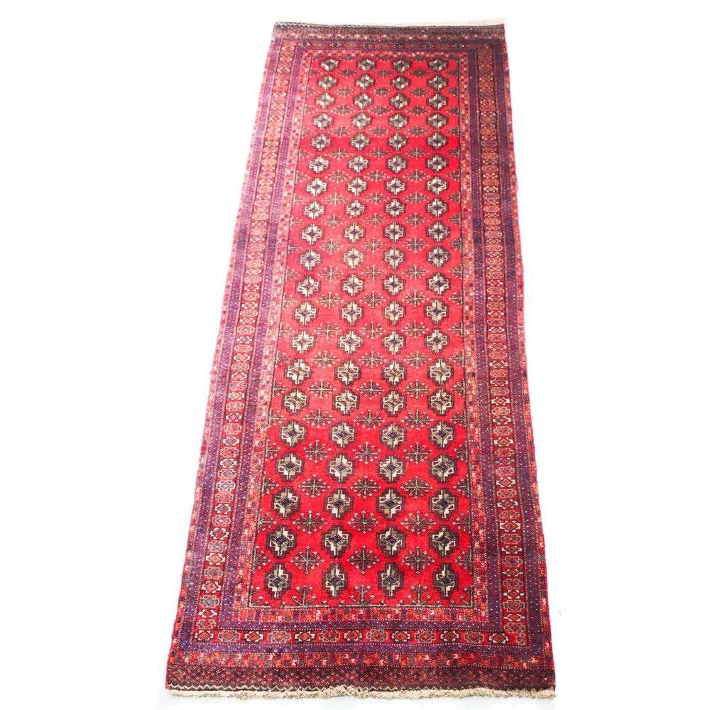 Semi-Antique Hand-Knotted Persian Qashqai Turkman Carpet Runner