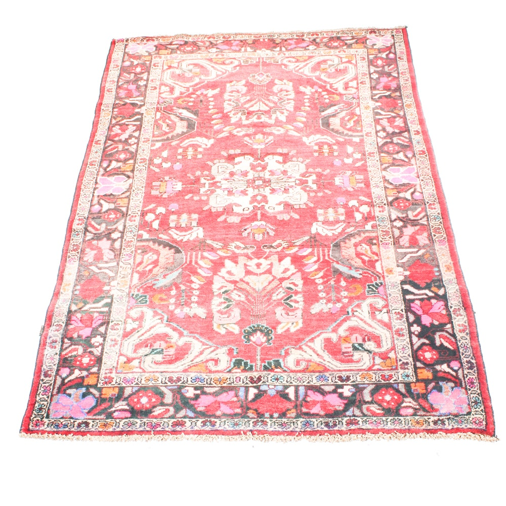 Semi-Antique Hand-Knotted Persian Mahal Sarouk Area Rug