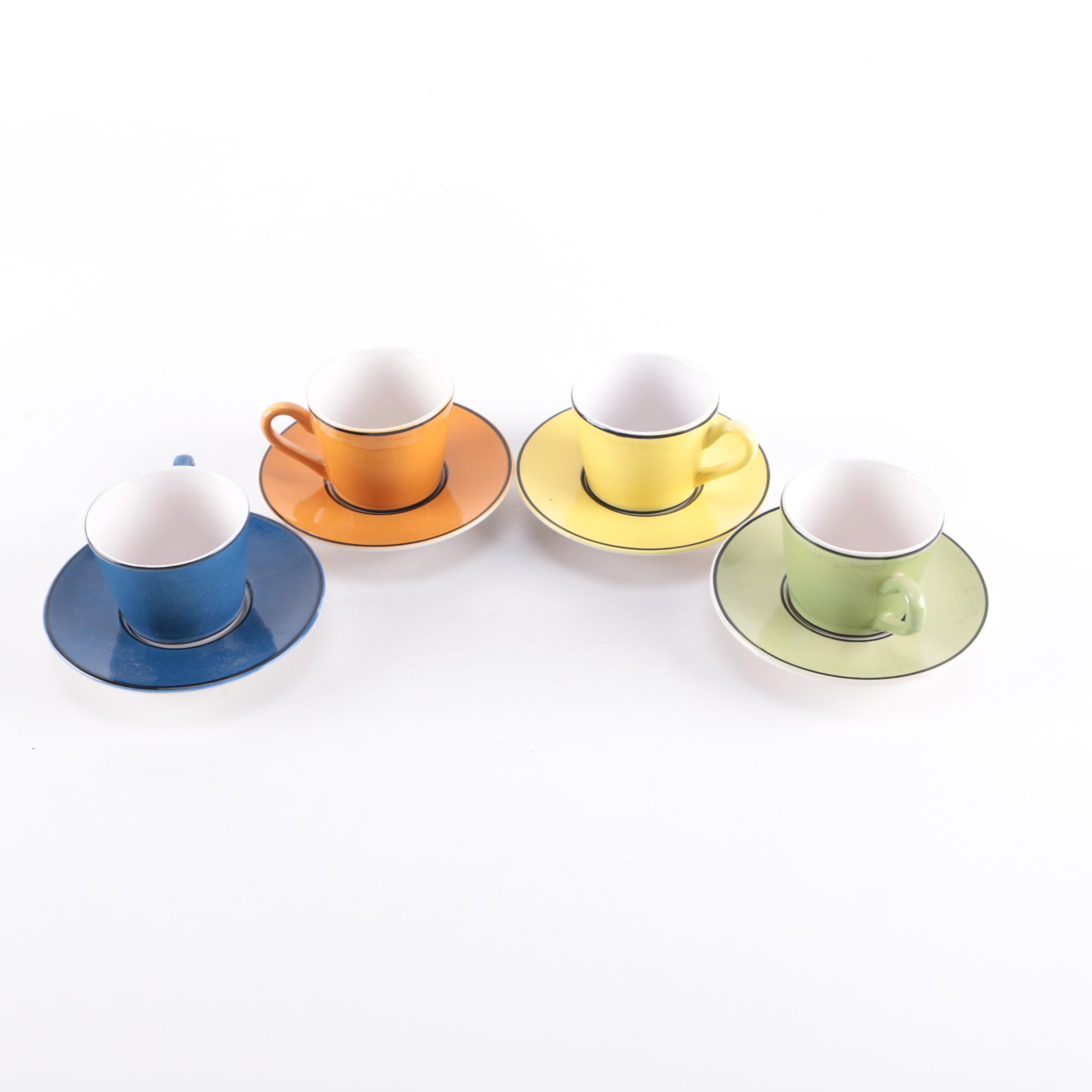 Italian Demitasse Cups And Saucers