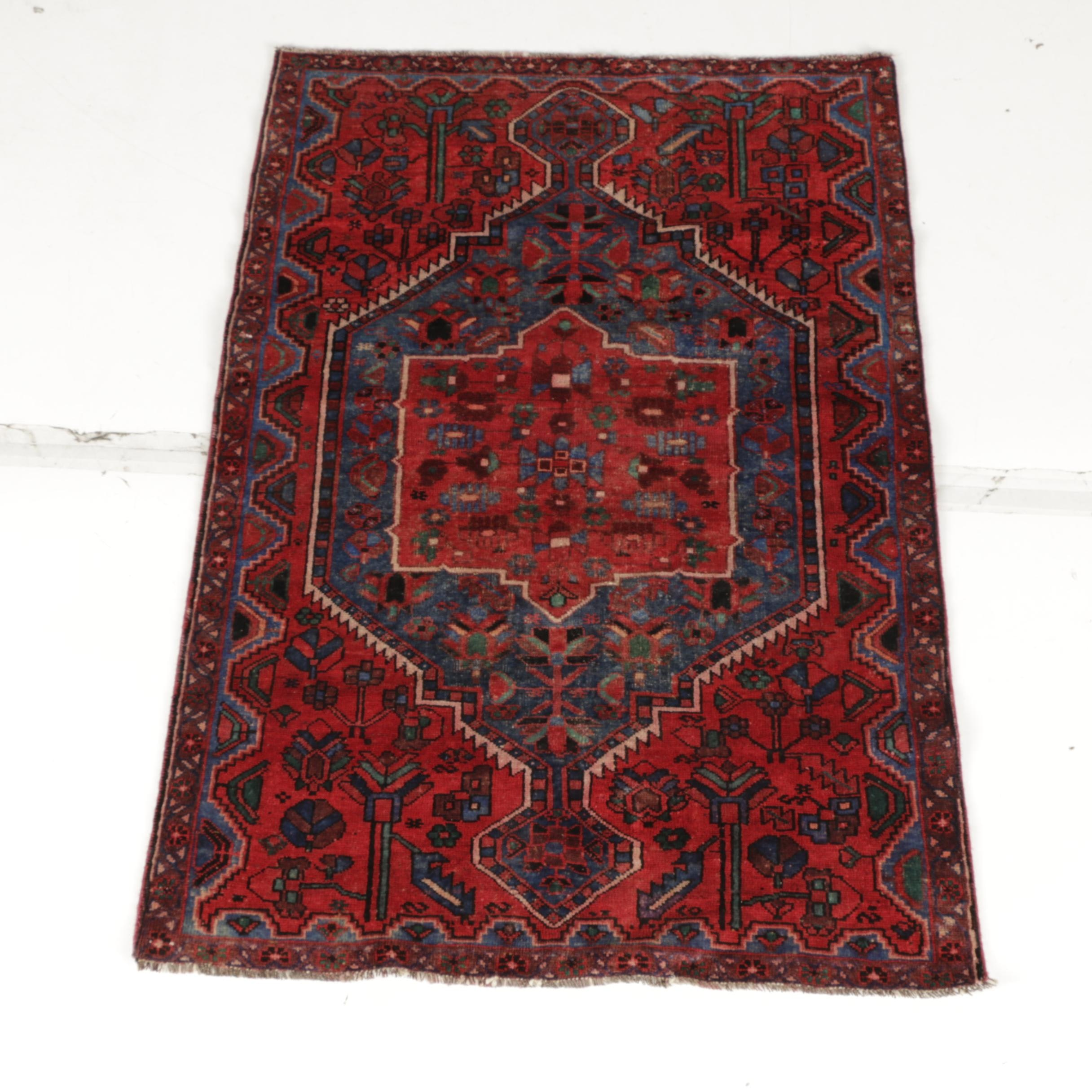 Hand-Knotted Persian Afshar Area Rug