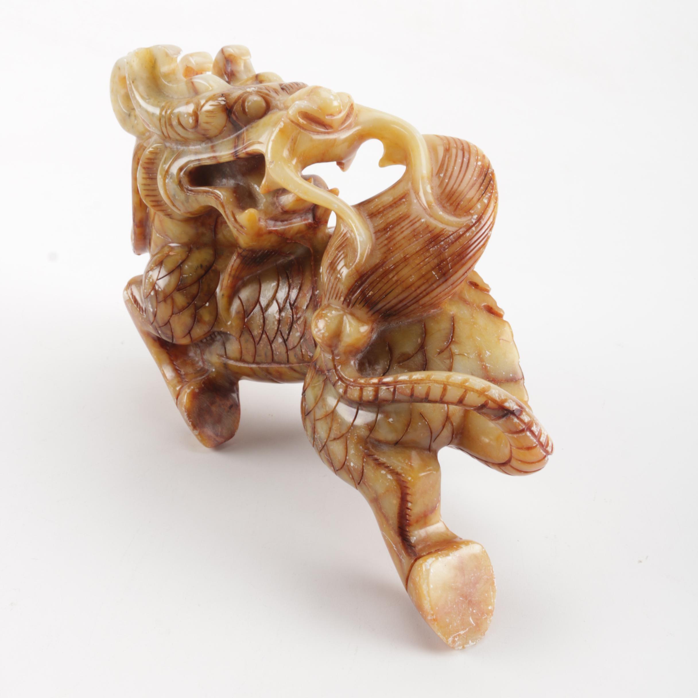 Soapstone Dragon Figurine