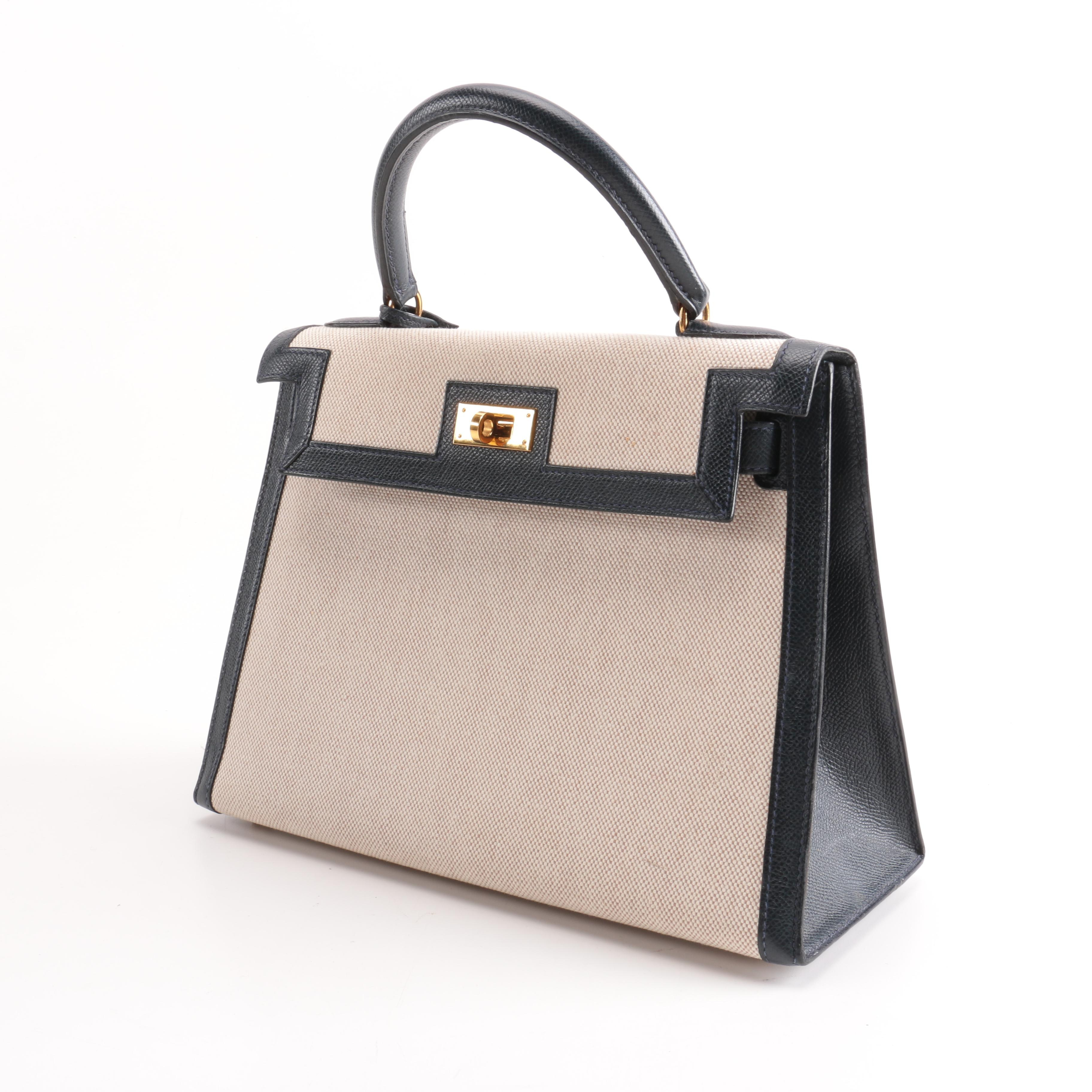 Hermès Canvas and Leather Kelly Handbag