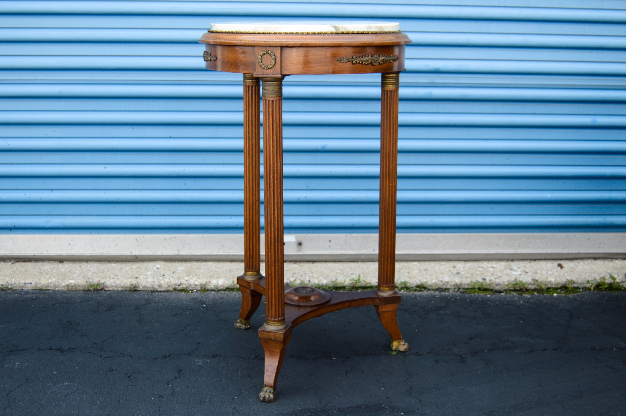 Vintage Marble Topped Table