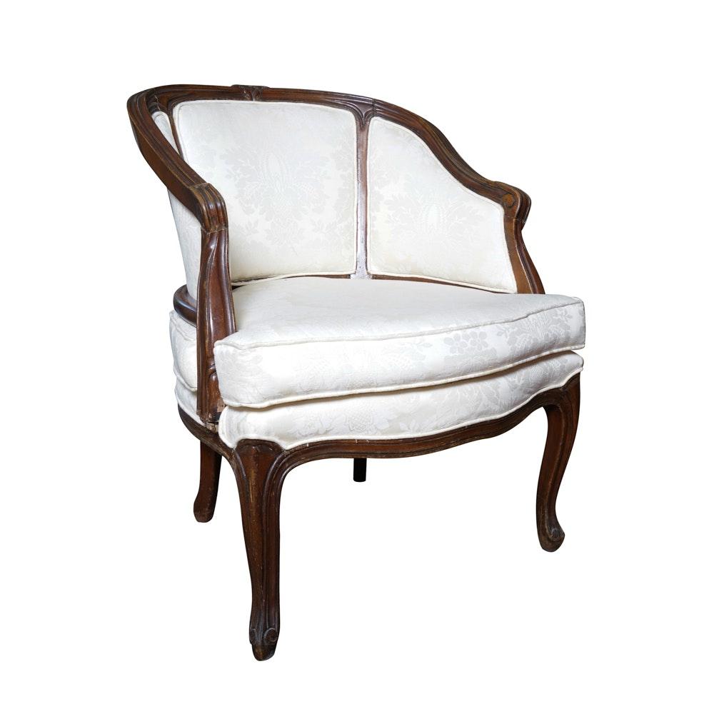 Vintage Louis XV Style Bergère