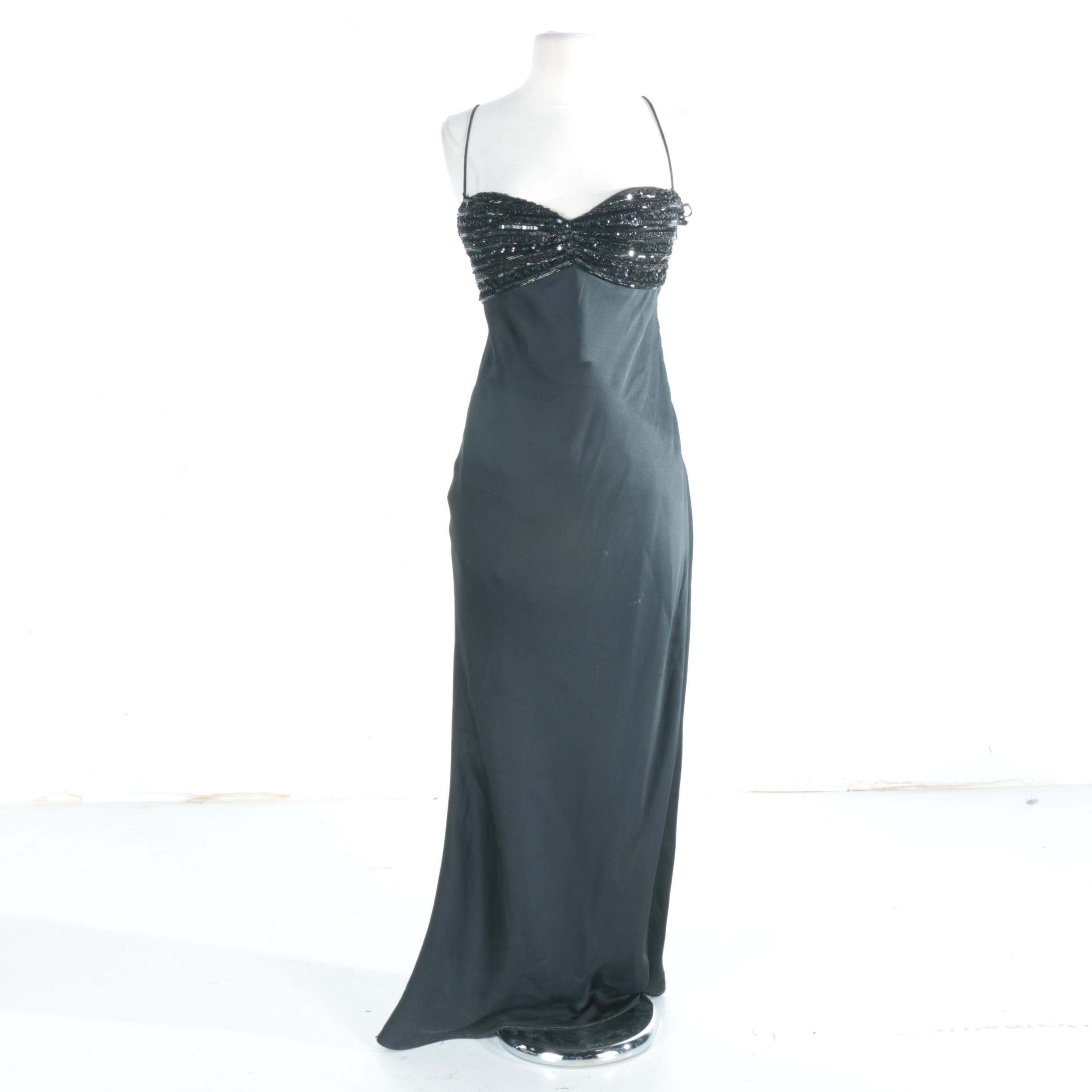 Giorgio Armani Black Evening Gown