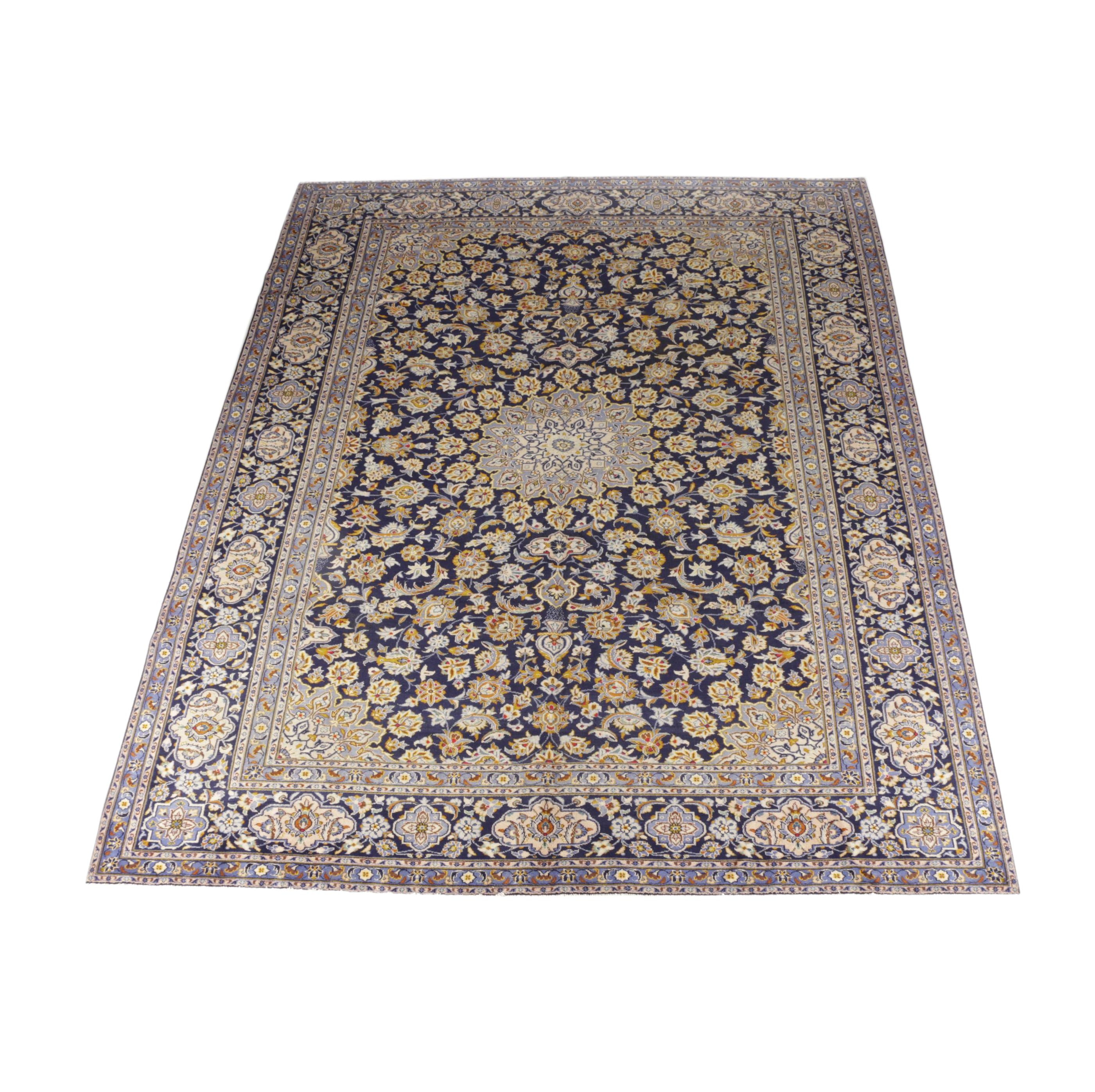 Large Hand-Knotted Tabriz Wool Area Rug