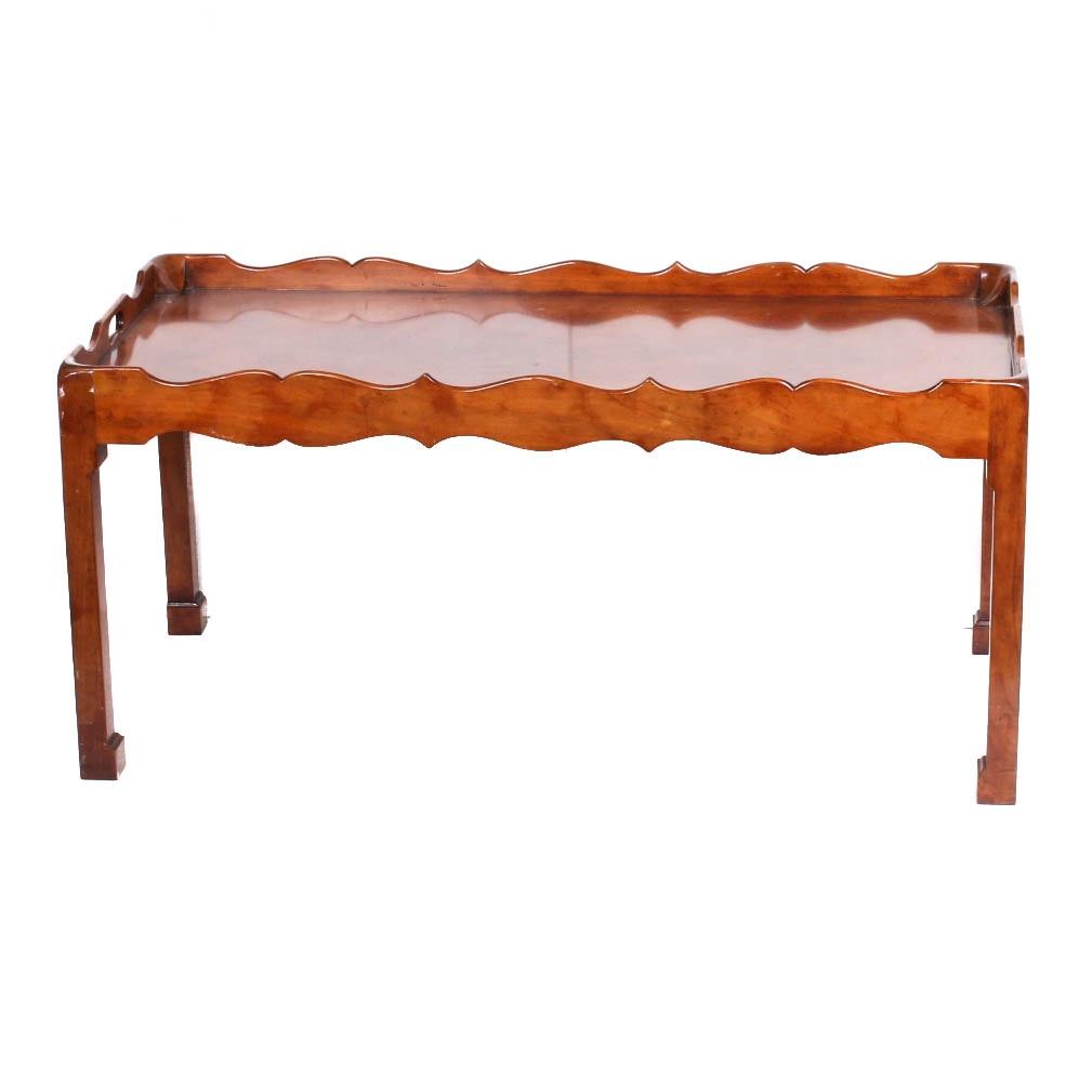 Mahogany Tray Top Coffee Table