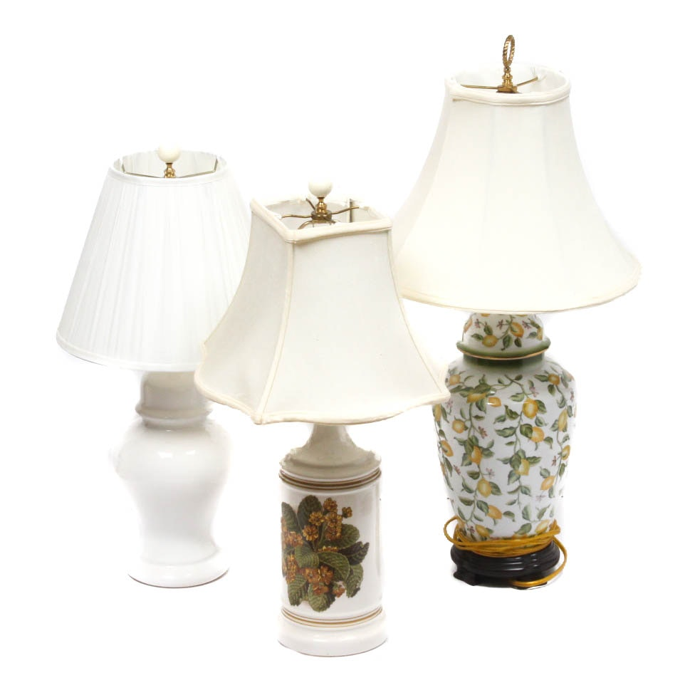 Ceramic Table Lamp Assortment